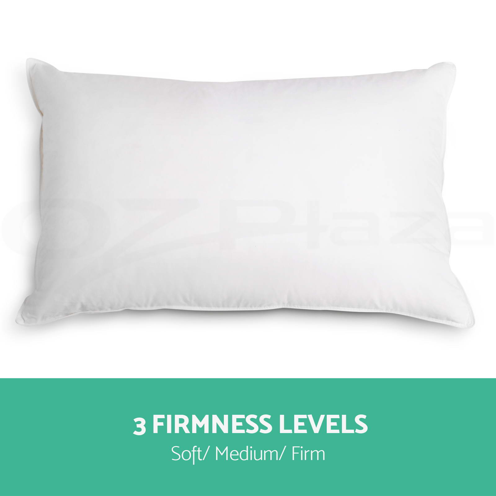 Family 4 pack bed pillows soft medium firm cotton cover for Soft bed pillows