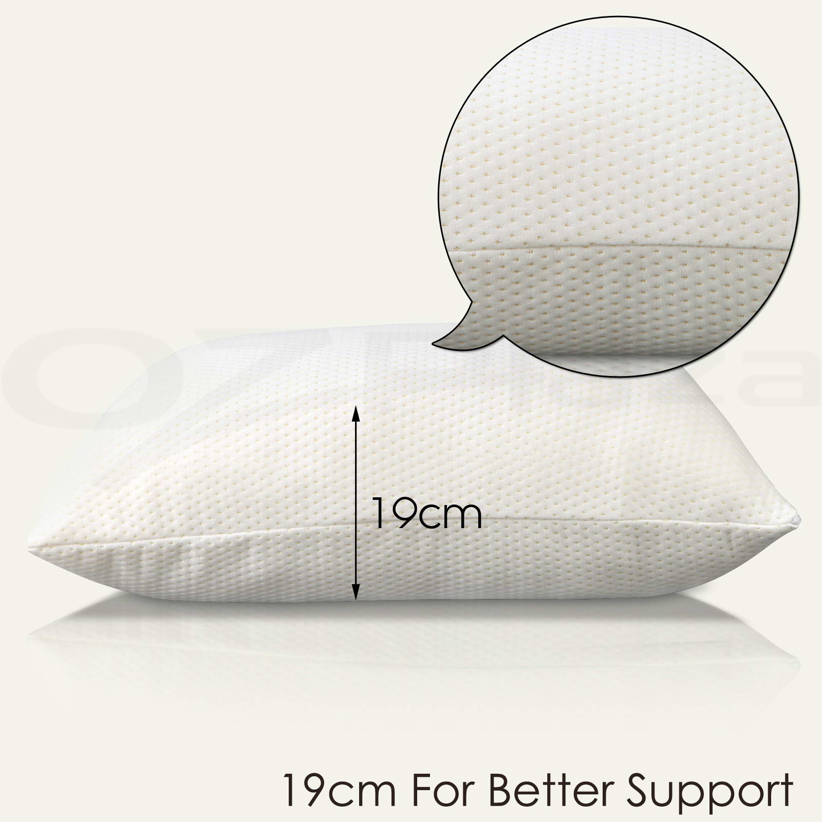 Memory foam pillow contour bamboo fibre gel duck goose for Duck or goose feather pillows which is better