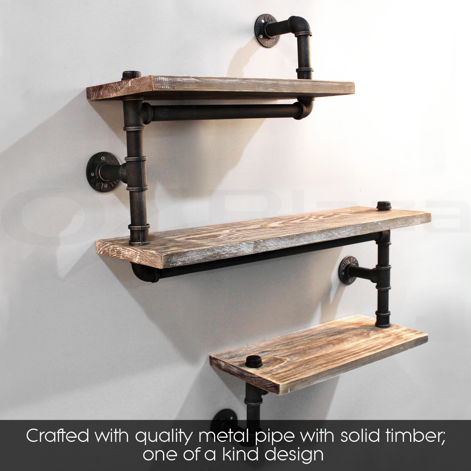 3 Level Rustic Industrial Diy Pipe Shelf Vintage Bookshelf