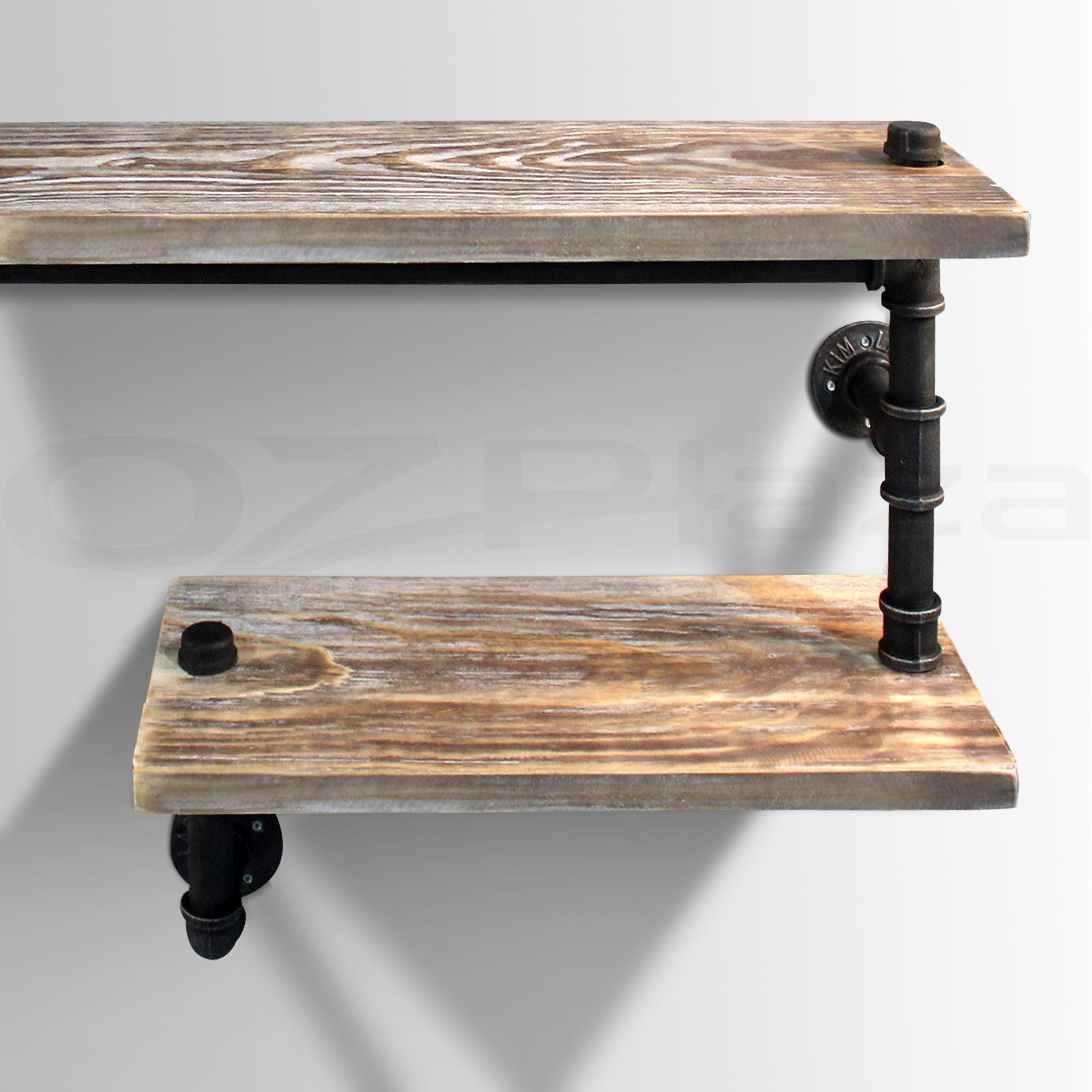 ... Level Rustic Industrial DIY Pipe Shelf Vintage Bookshelf Wall Shelving