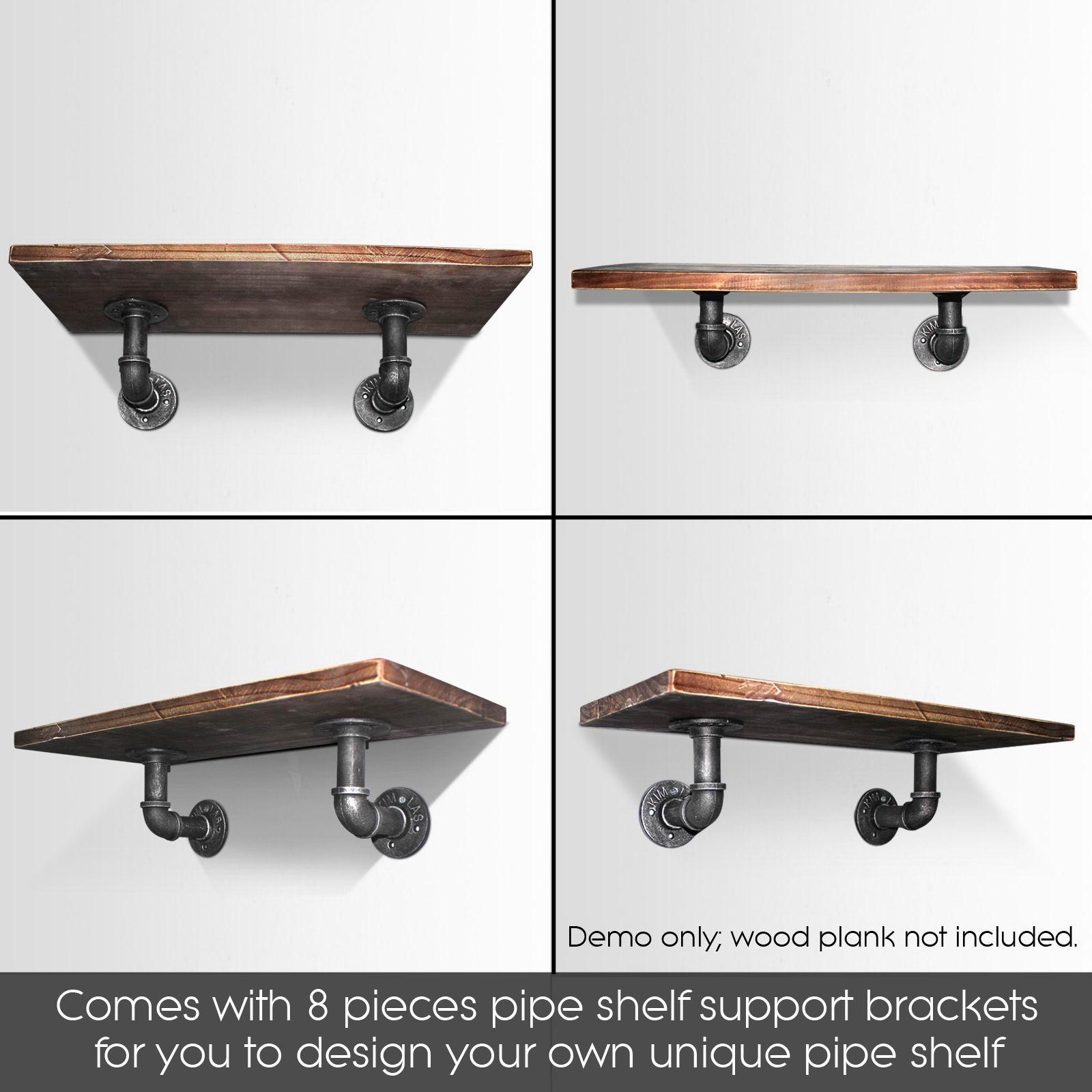 Rustic Vintage Mount Bracket Set Industrial DIY Pipe Shelf ...