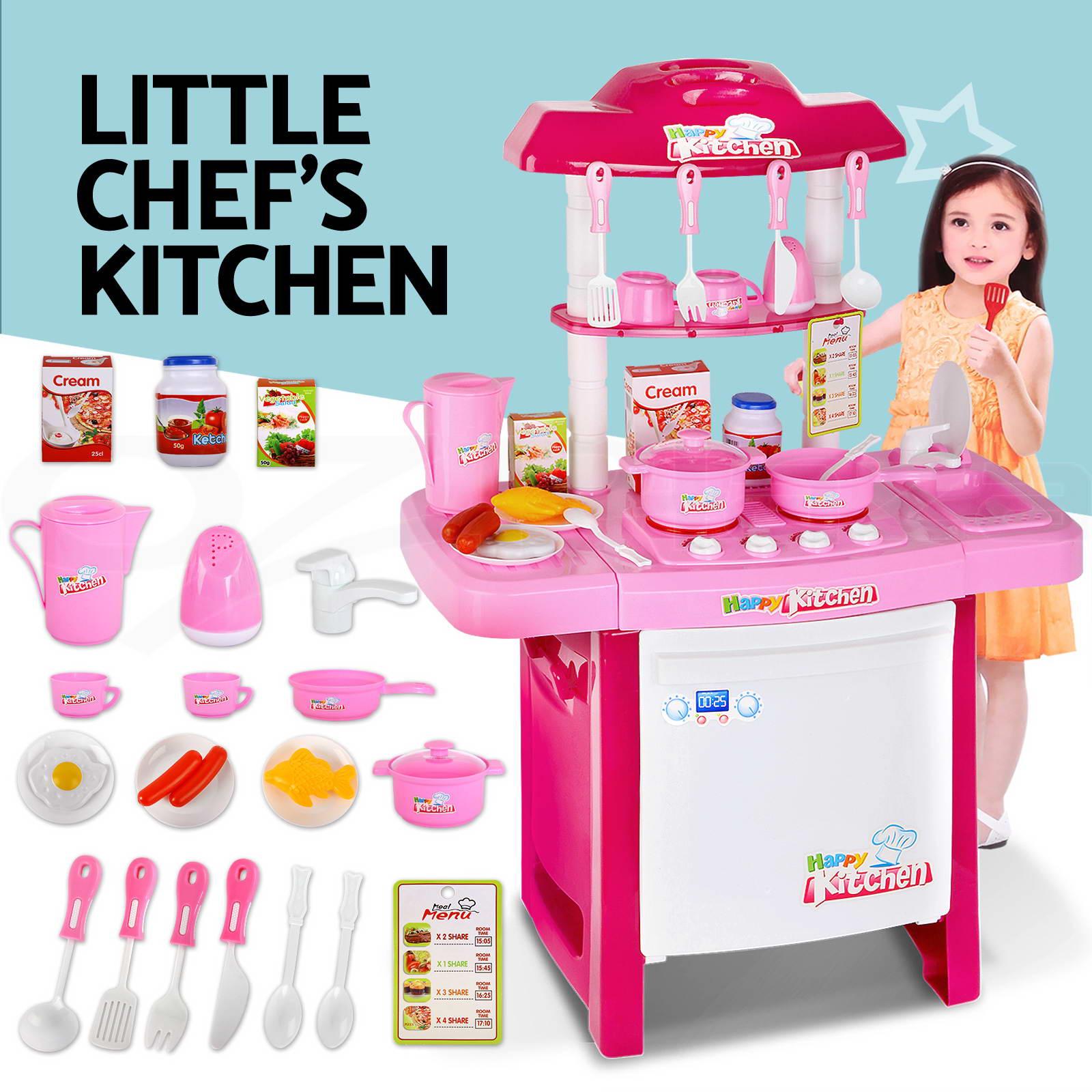 Play Kitchen Set kids wooden pretend play kitchen set toy toddlers market home