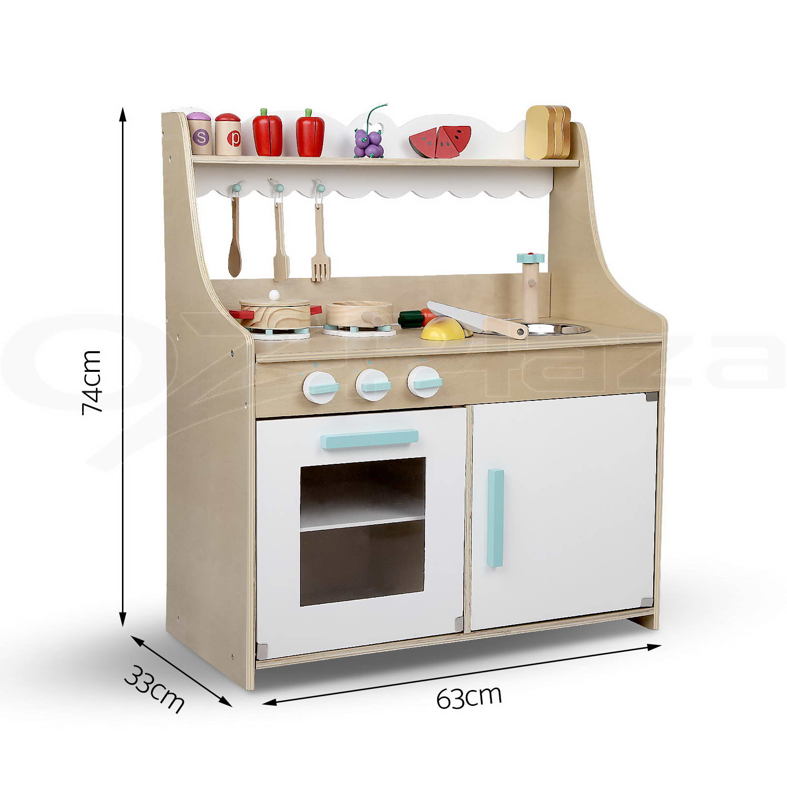 kids wooden pretend play kitchen set toy toddlers market home children tool ebay. Black Bedroom Furniture Sets. Home Design Ideas