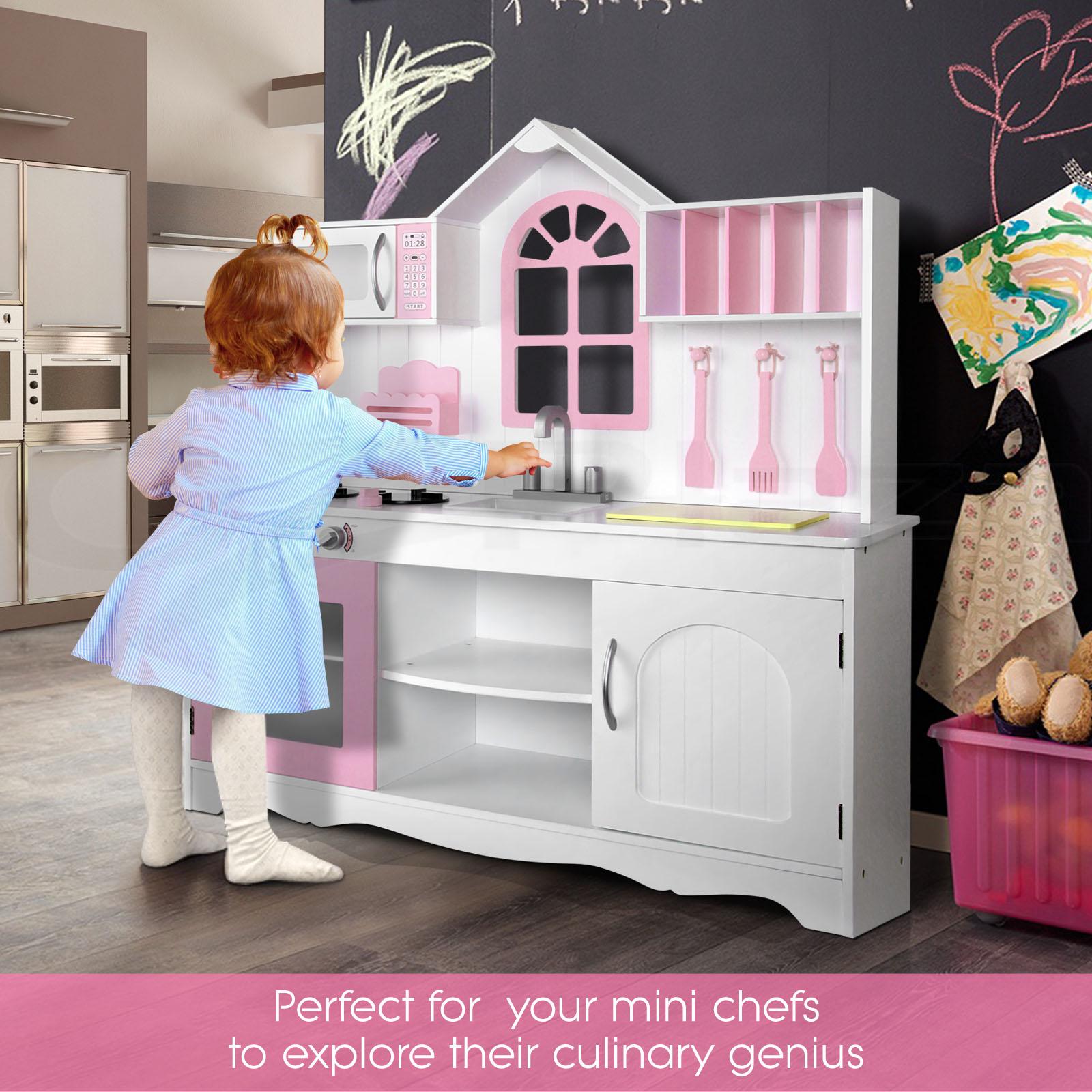 kids wooden pretend play kitchen set toy toddlers market home  - kidswoodenpretendplaykitchensettoytoddlers