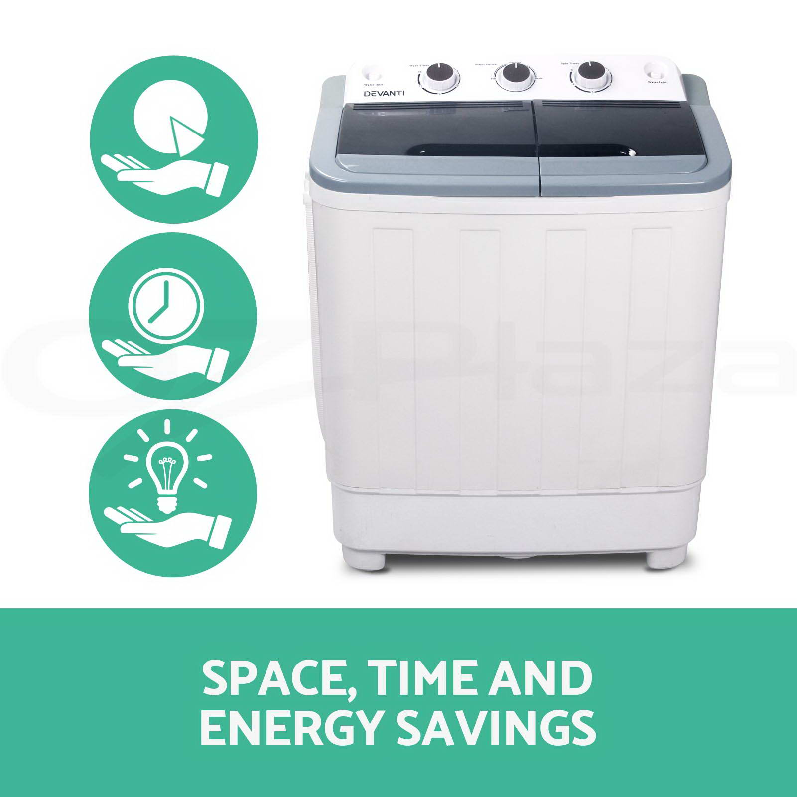 Mini Washing Machines Mini Portable Washing Machine Top Load 2 In 1 Spin Camping Caravan