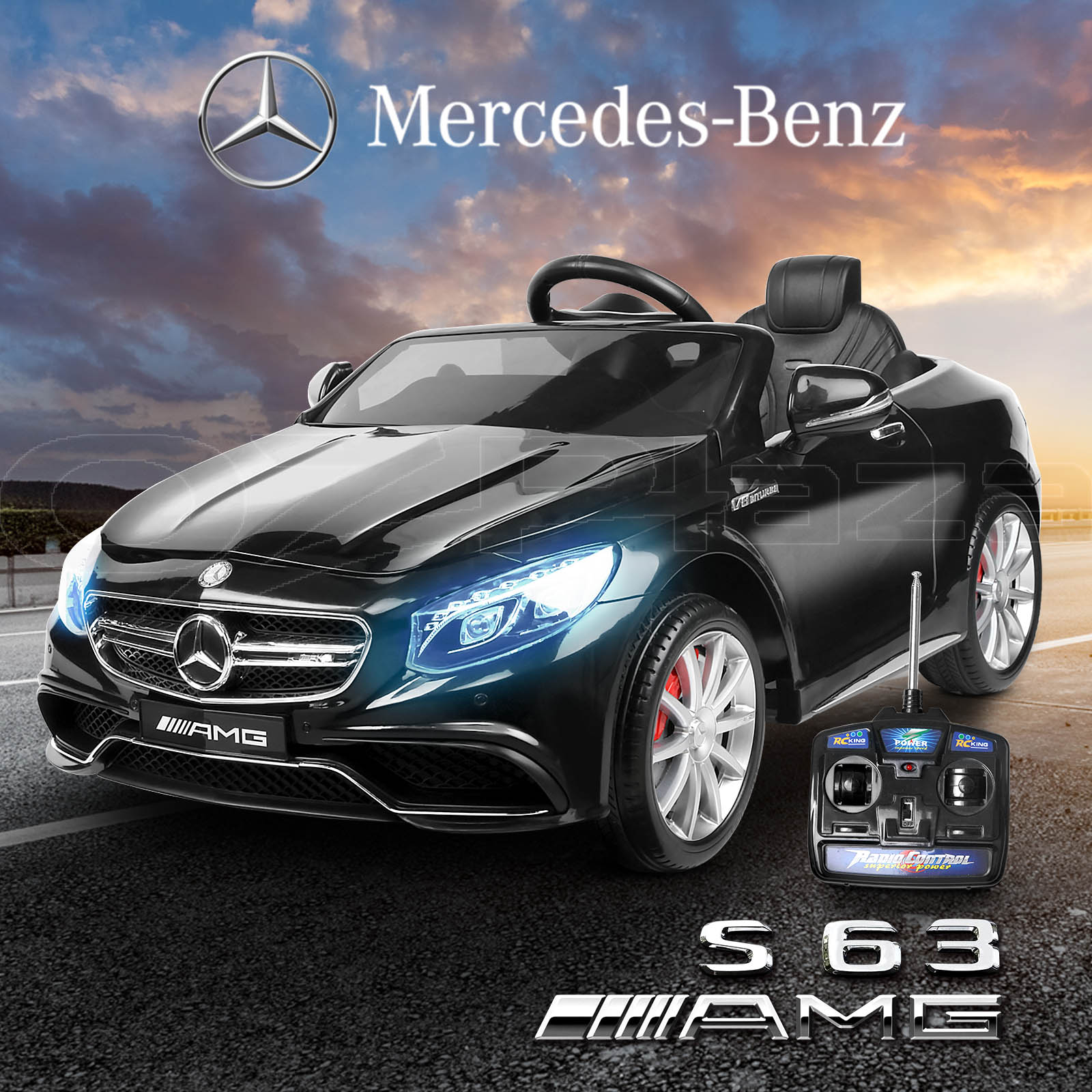 Kids electric ride on car licensed mercedes benz amg s63 for Mercedes benz kids