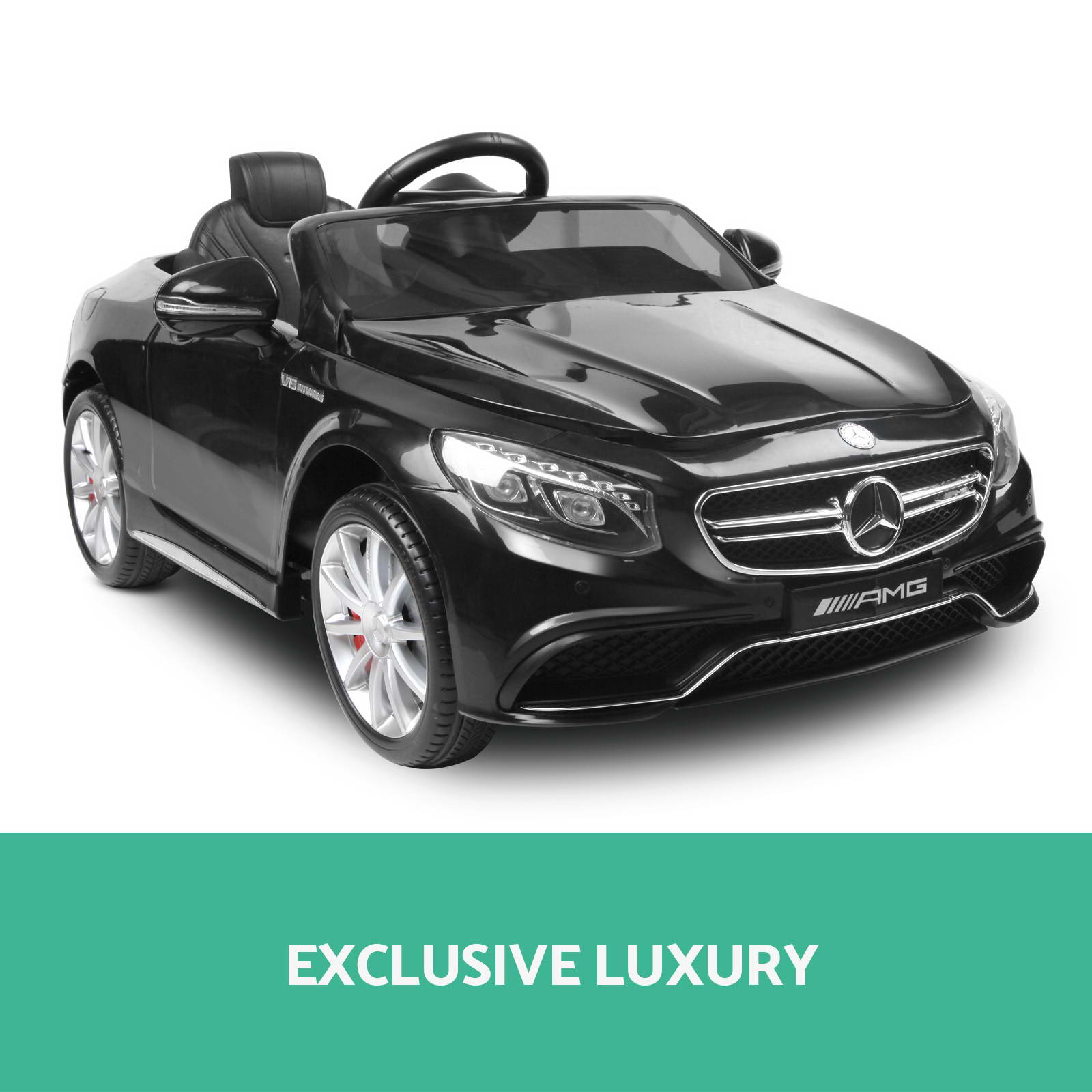 Kids electric ride on car licensed mercedes benz amg s63 for Mercedes benz kids car