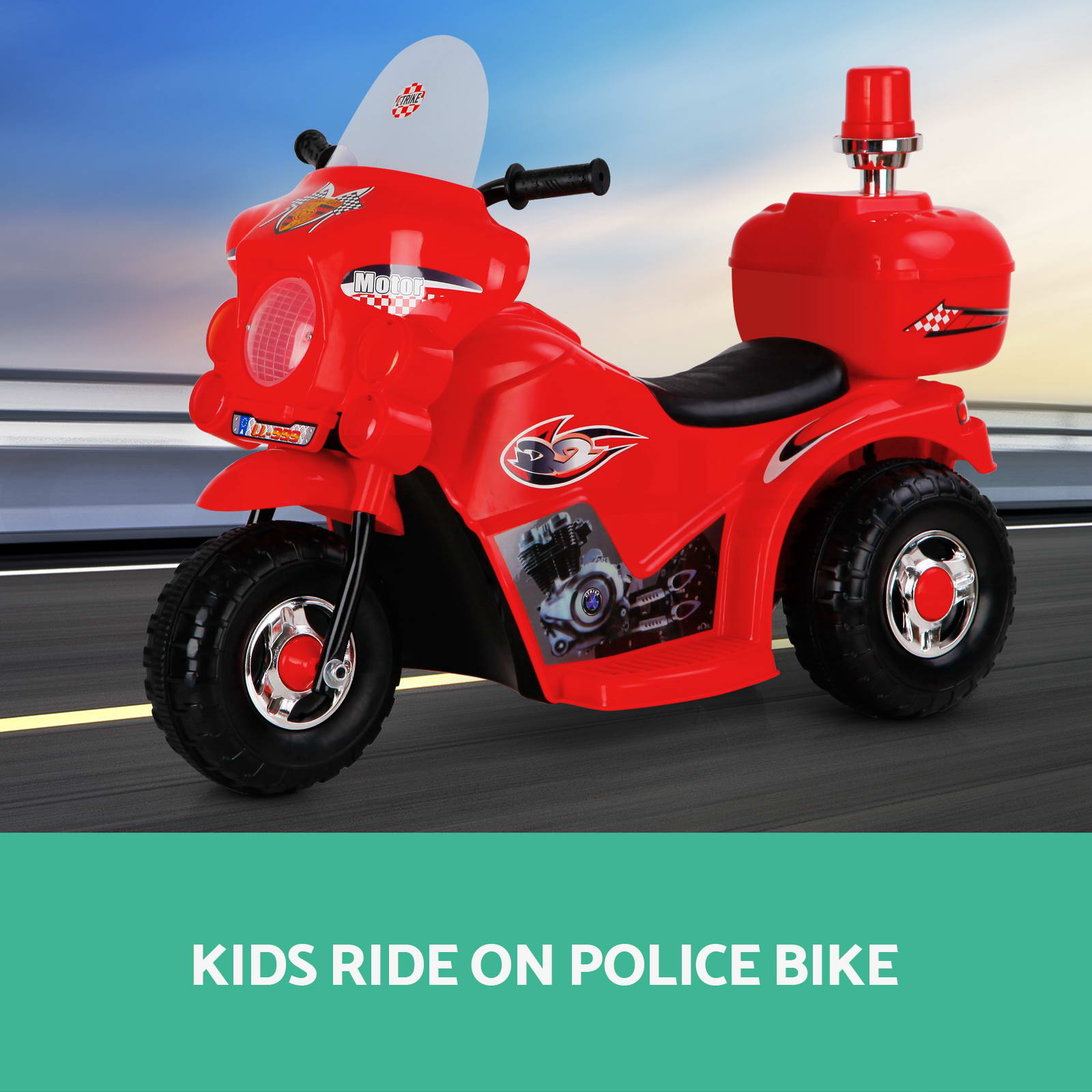 Kids Electric Ride on Motorbike Motorcycle Patrol Car Toy ...