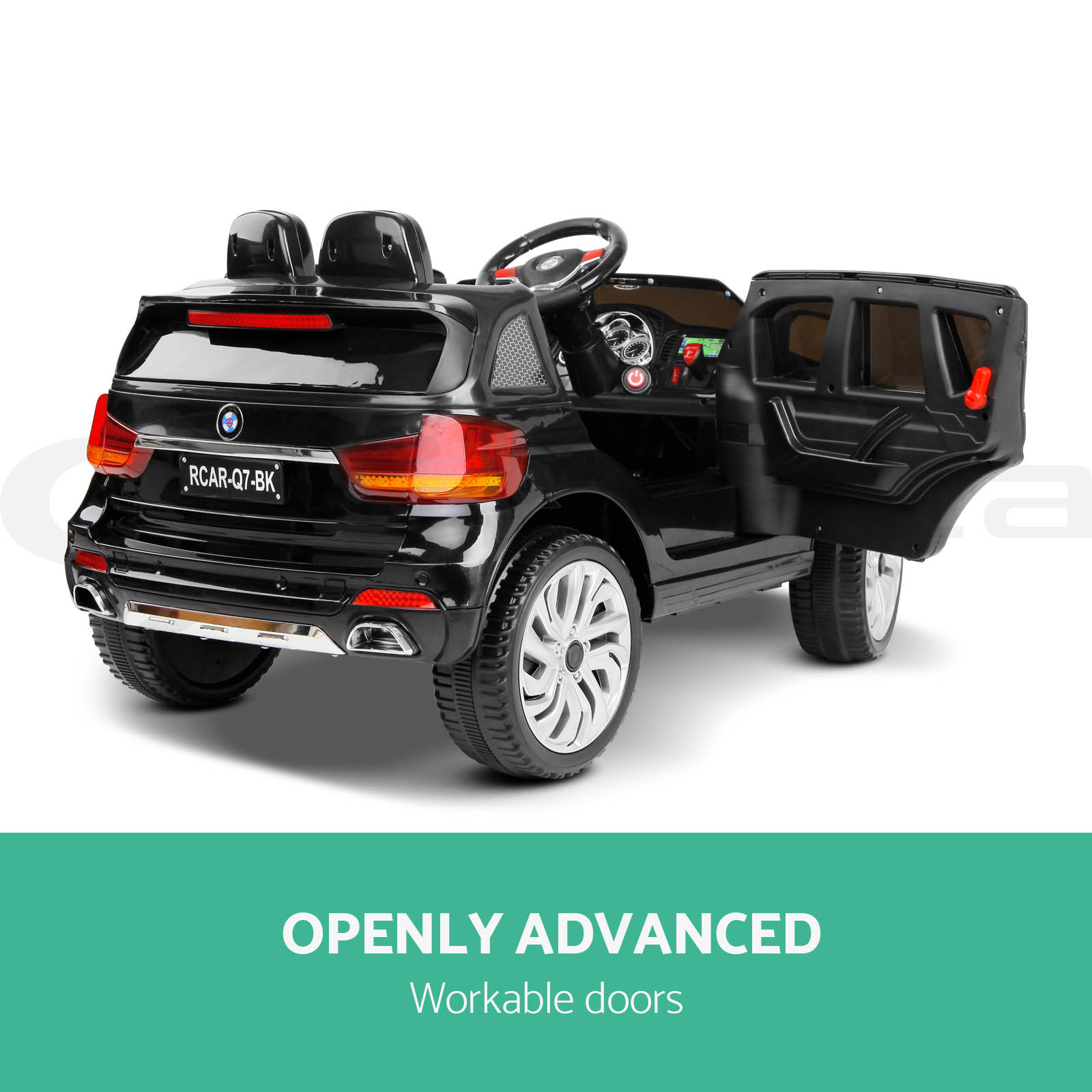 kids ride on car audi q7 suv battery electric toys 2 speed. Black Bedroom Furniture Sets. Home Design Ideas