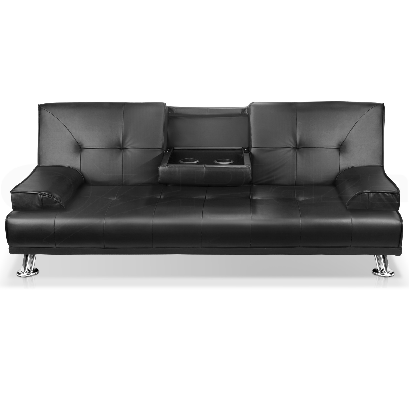 Linen FabricPU Leather Sofa Couch Outdoor Lounges Futon  : SBED R1C BK VAR P02 from www.ebay.com.au size 1600 x 1600 jpeg 219kB