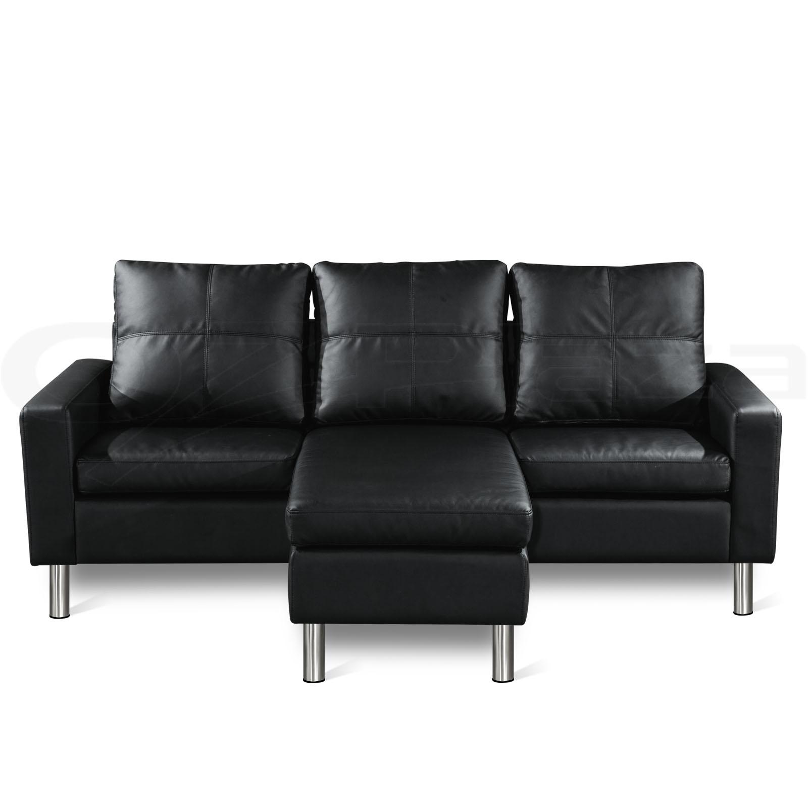 Pu Leather Sofa Modular Lounge Suite Chaise Double Futon