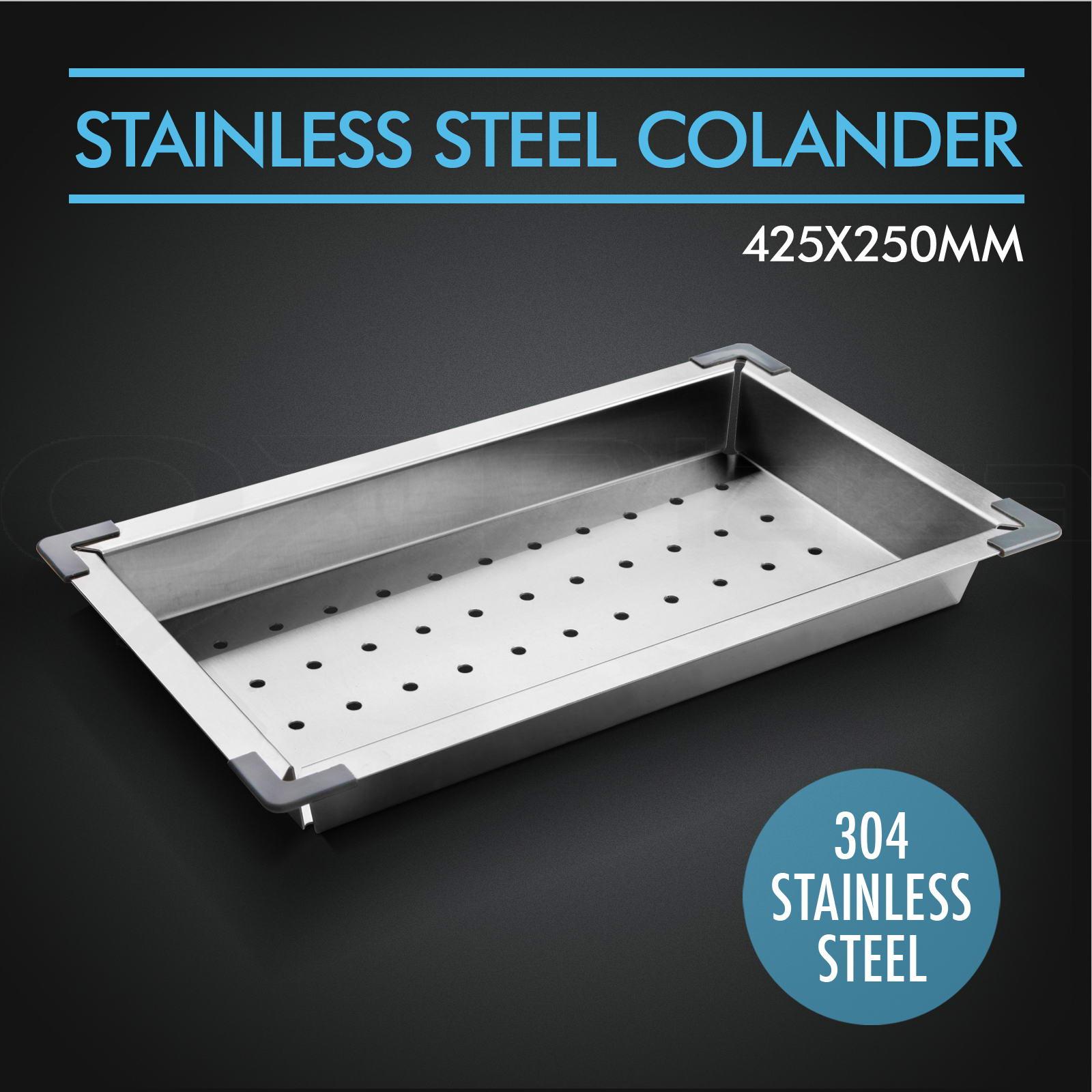 ... -Stainless-Steel-Kitchen-Sink-Colander-Drainer-Draining-Tray-Strainer