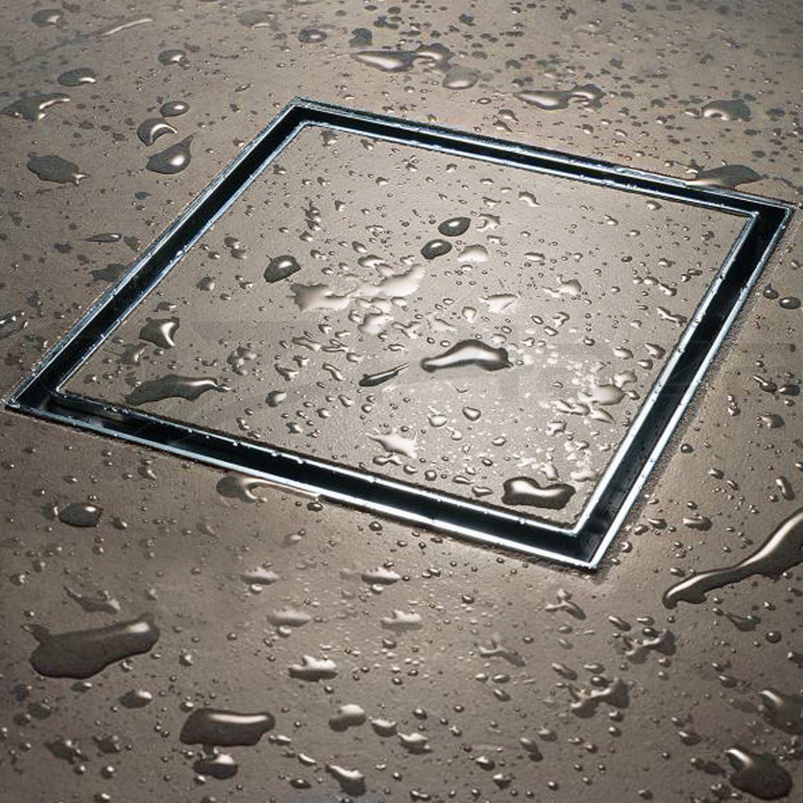 304 Stainless Steel Shower Grate Tile Insert Drain Square ...