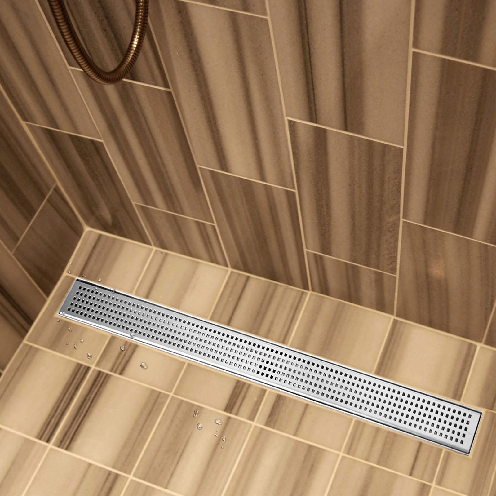 600 1200mm stainless steel tile insert shower grate drain floor linear bathroom ebay