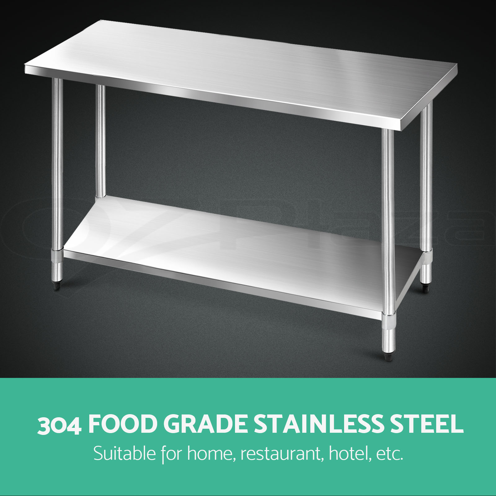 Commercial Grade Stainless Steel : 304-430-Commercial-Stainless-Steel-Kitchen-Work-Bench-Top-Food-Grade ...