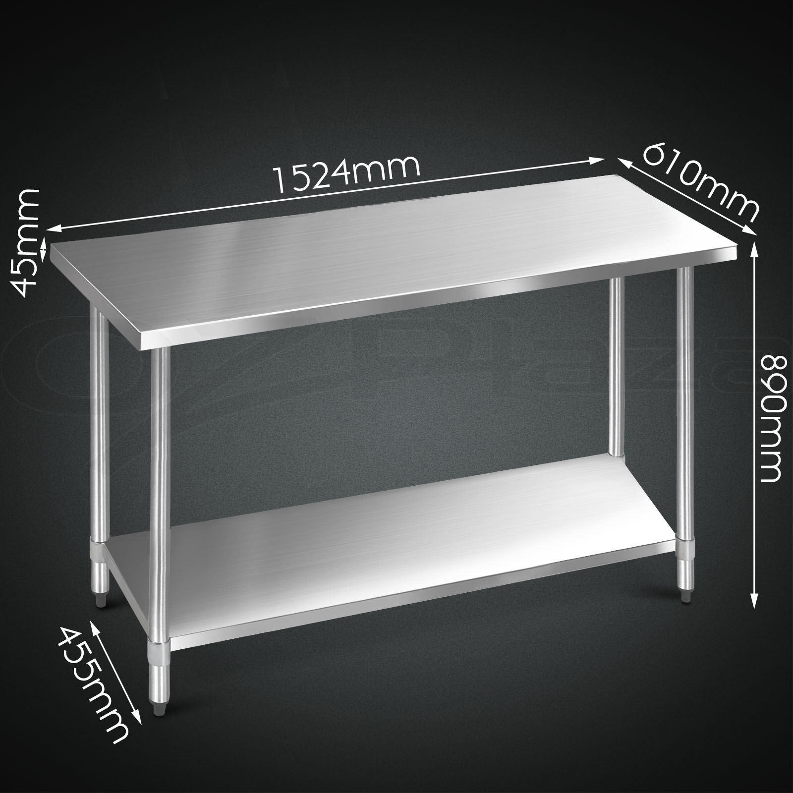 304 430 mercial stainless steel kitchen work bench top food