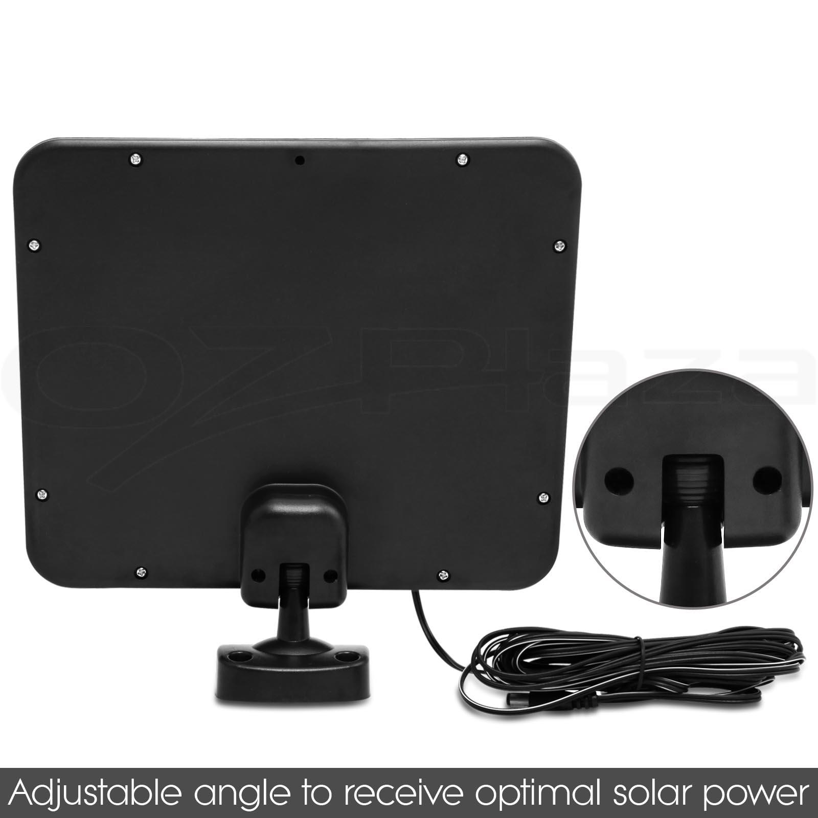 2x 100 led solar sensor light solar security light motion detection. Black Bedroom Furniture Sets. Home Design Ideas