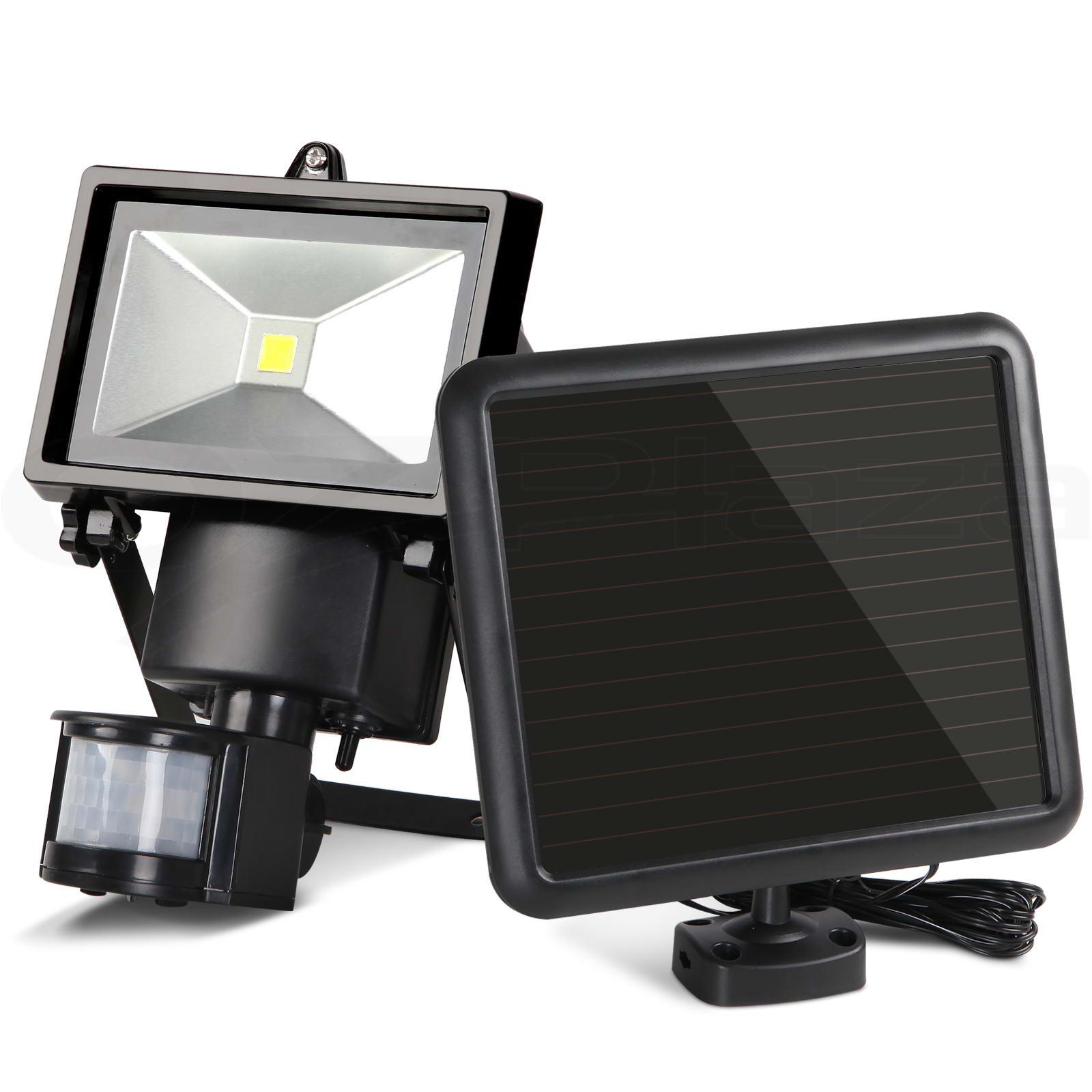 solar sensor light motion detection security garden flood lights. Black Bedroom Furniture Sets. Home Design Ideas