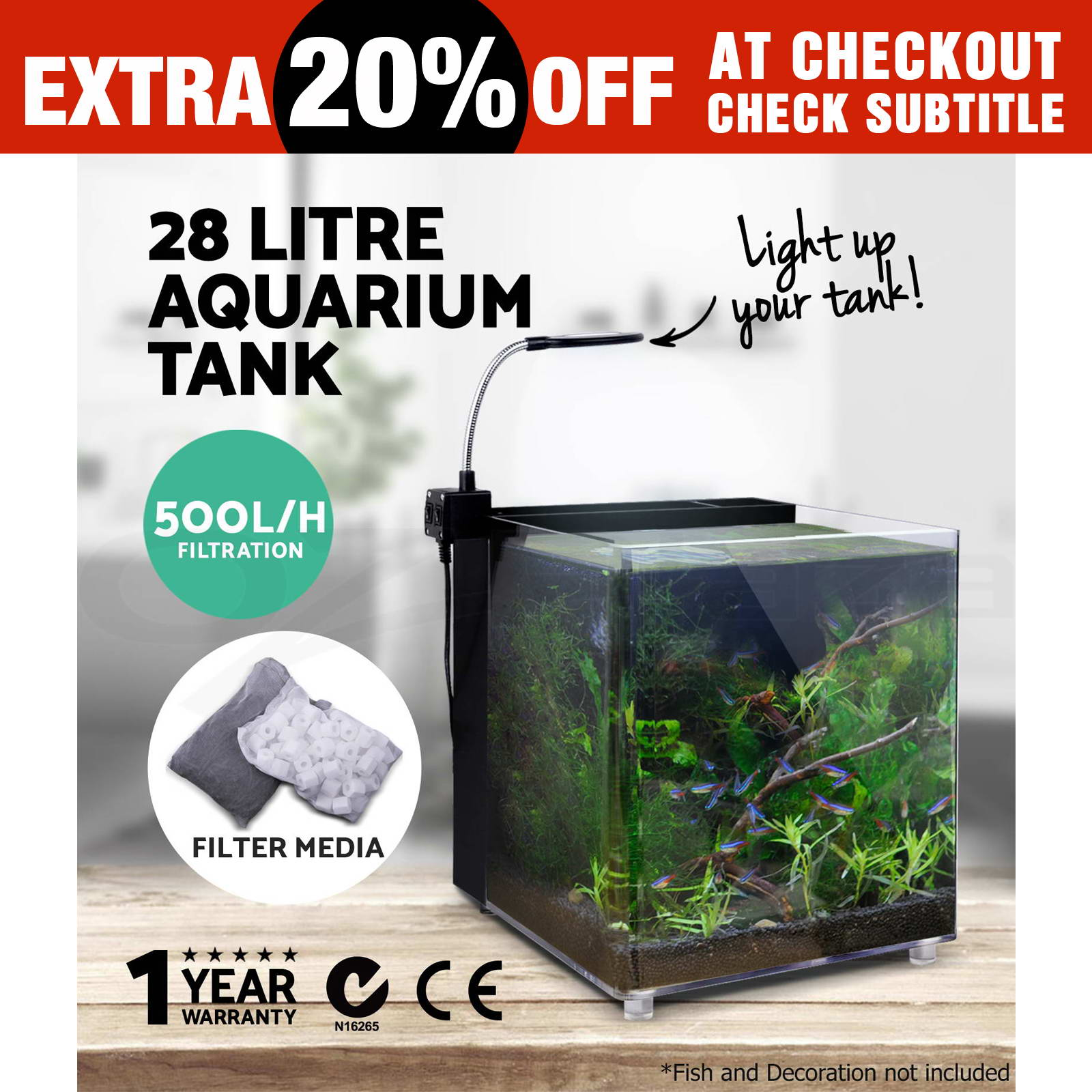 Aquarium nano fish tank - Aquarium Nano Fish Tank Led Light Sea Marine