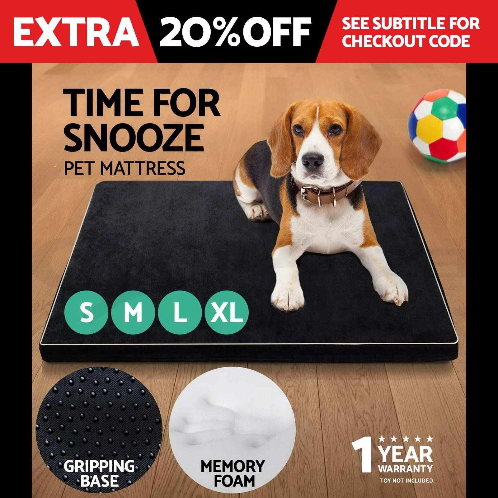Pet Bed Mattress Memory Foam Dog Cat Pad Warm Cushion Extra Large Medium Small