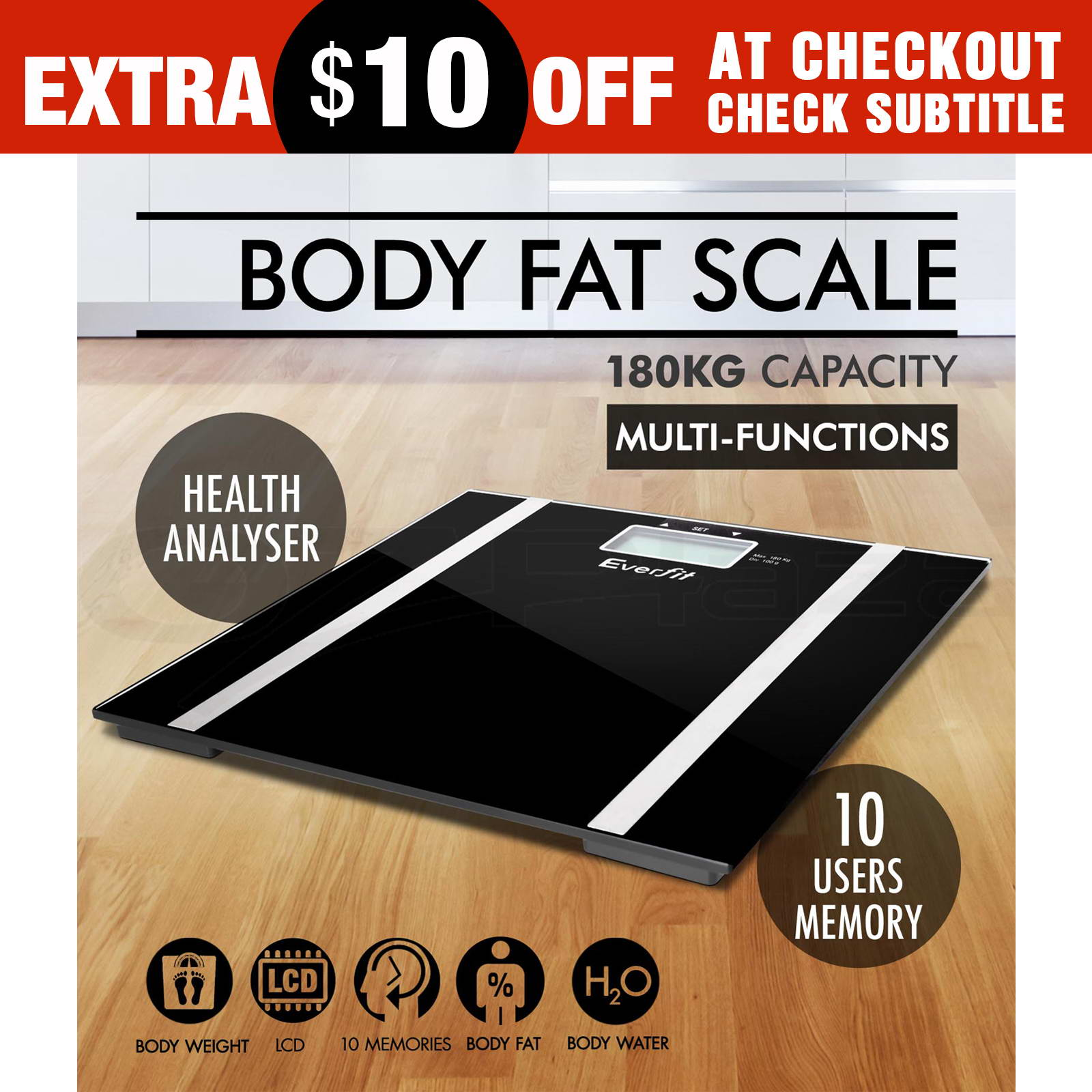 Bathroom scale coupons