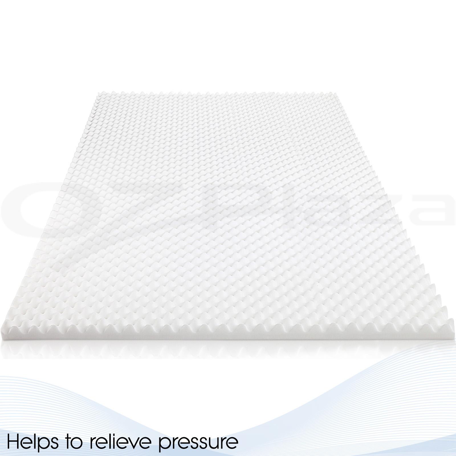 Deluxe Egg Crate Mattress Topper 5 Cm Foam Underlay Protector Queen Size Ebay