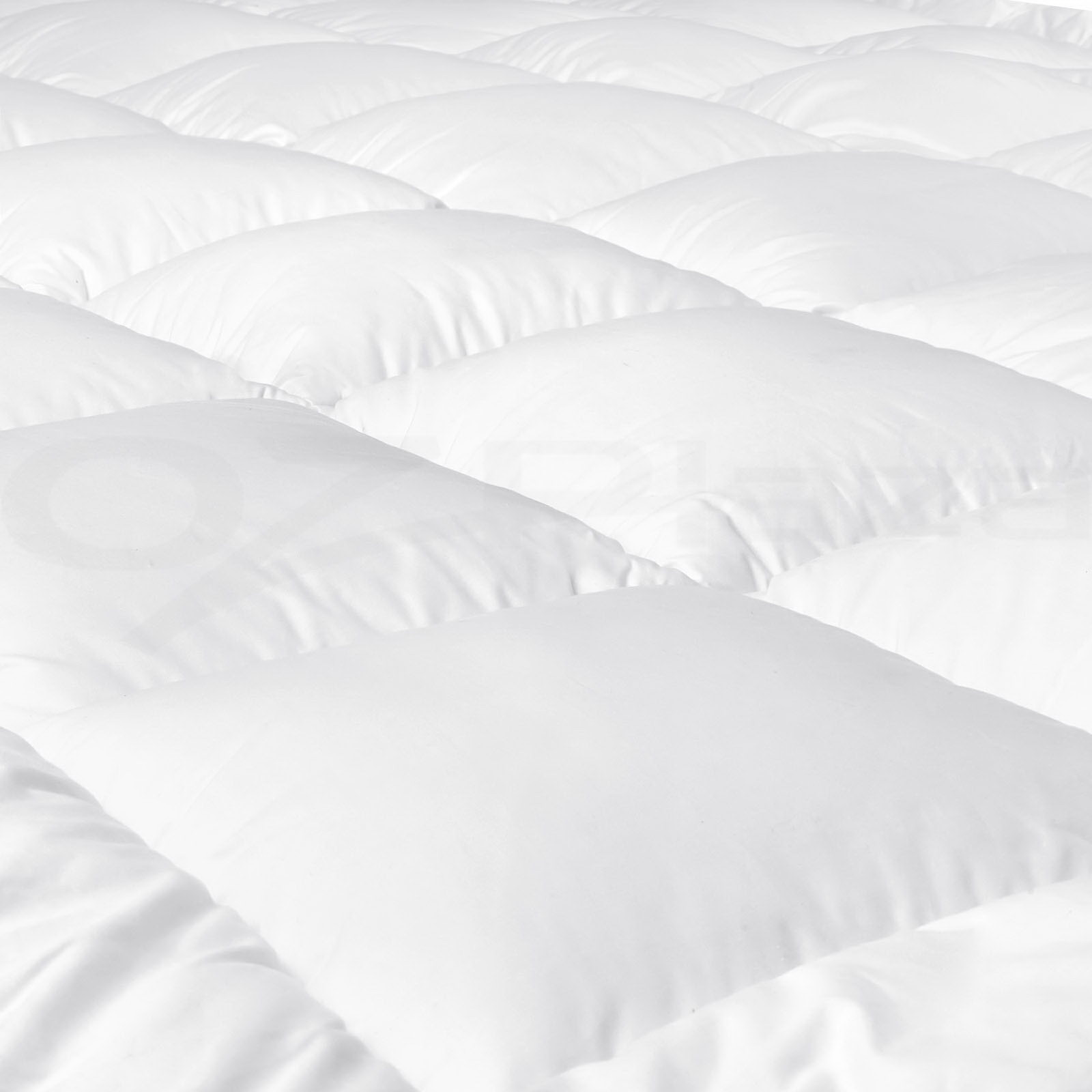 Luxury-Pillowtop-Mattress-Topper-Memory-Resistant-Protect-Cover-