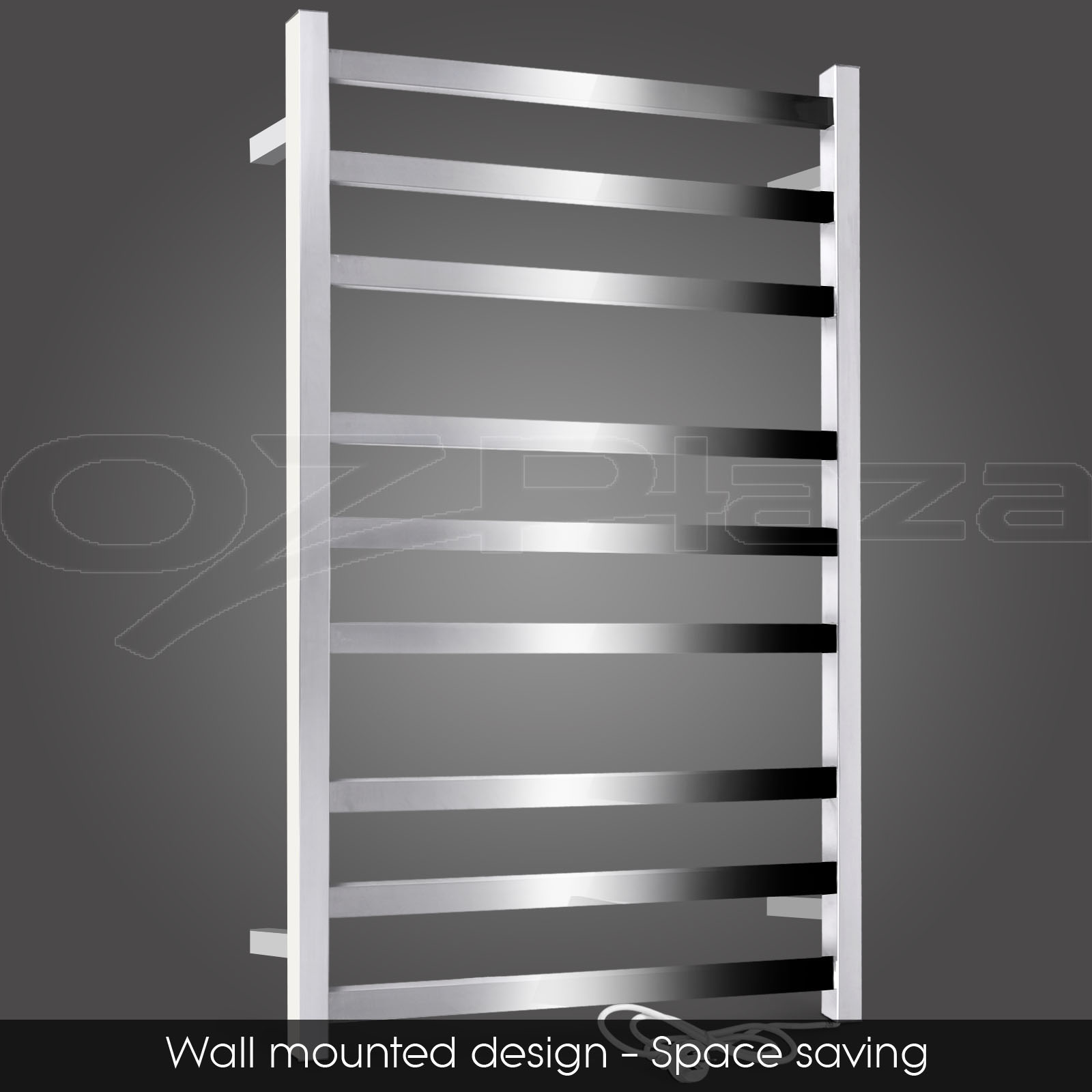 New stainless steel electric heated towel rail rack - Heated towel racks for bathrooms ...