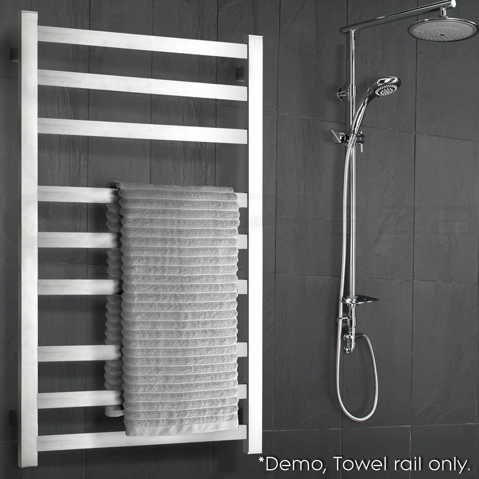 Electric Bathroom Floor Heating: NEW Stainless Steel Electric Heated Towel Rail Rack