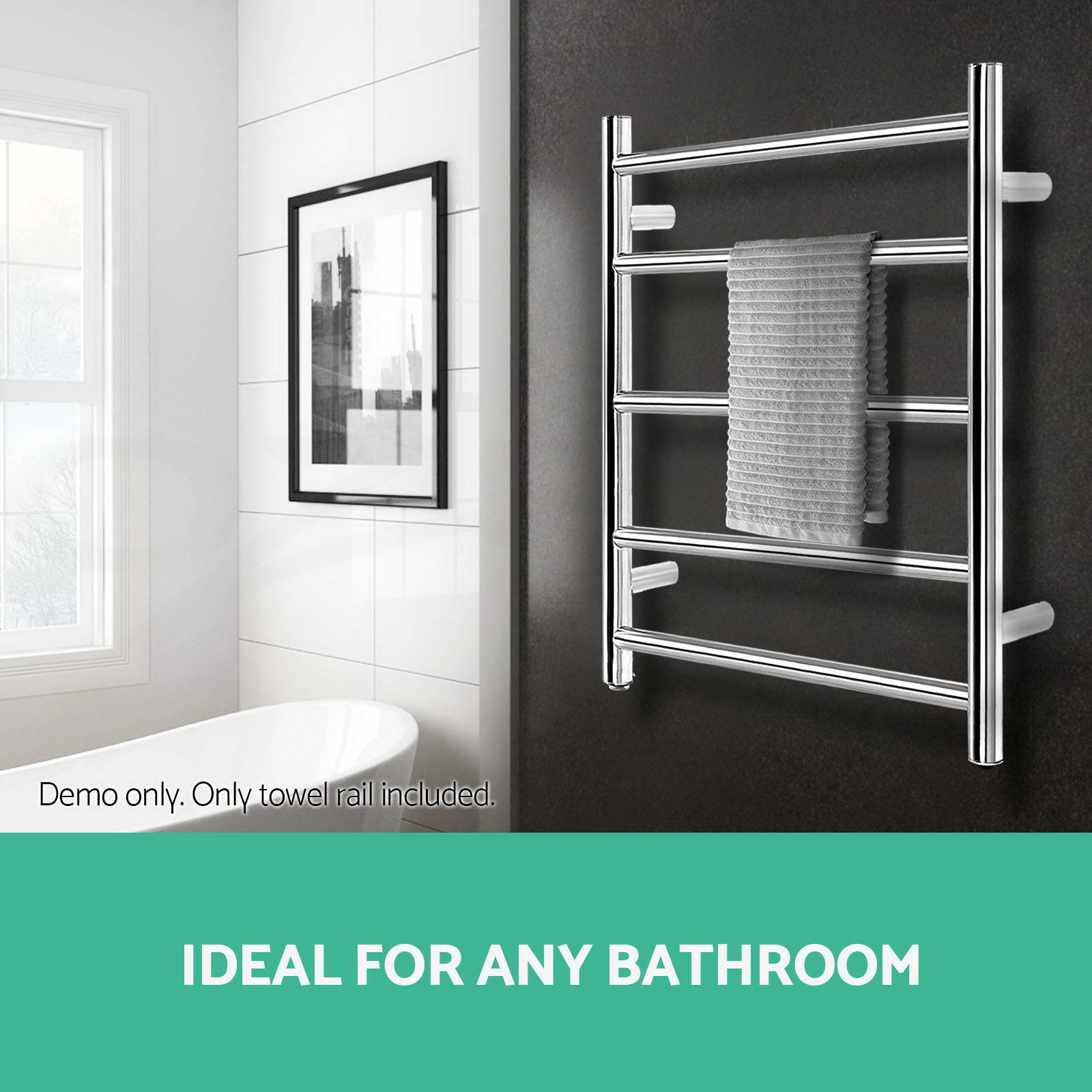 Braddan Stainless Steel Modern Towel Warmer Heated Towel: NEW Electric Heated Towel Rack Warmer Stainless Steel Rail