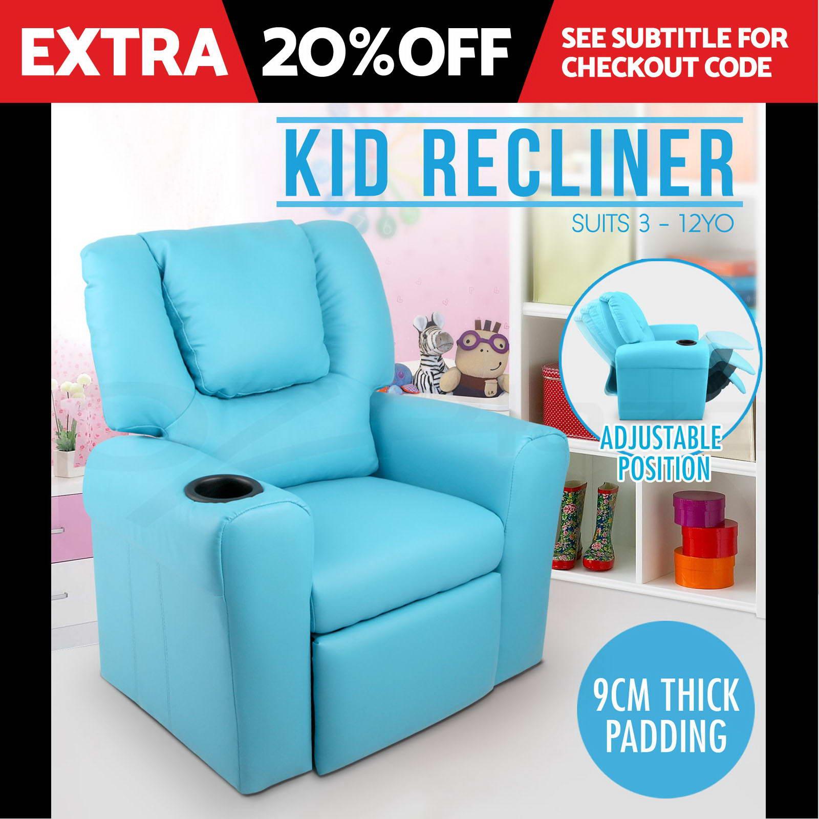 Image is loading Luxury-Kids-Recliner-Sofa-Children-Lounge-Chair-Padded-  sc 1 st  eBay & Luxury Kids Recliner Sofa Children Lounge Chair Padded PU Leather ... islam-shia.org