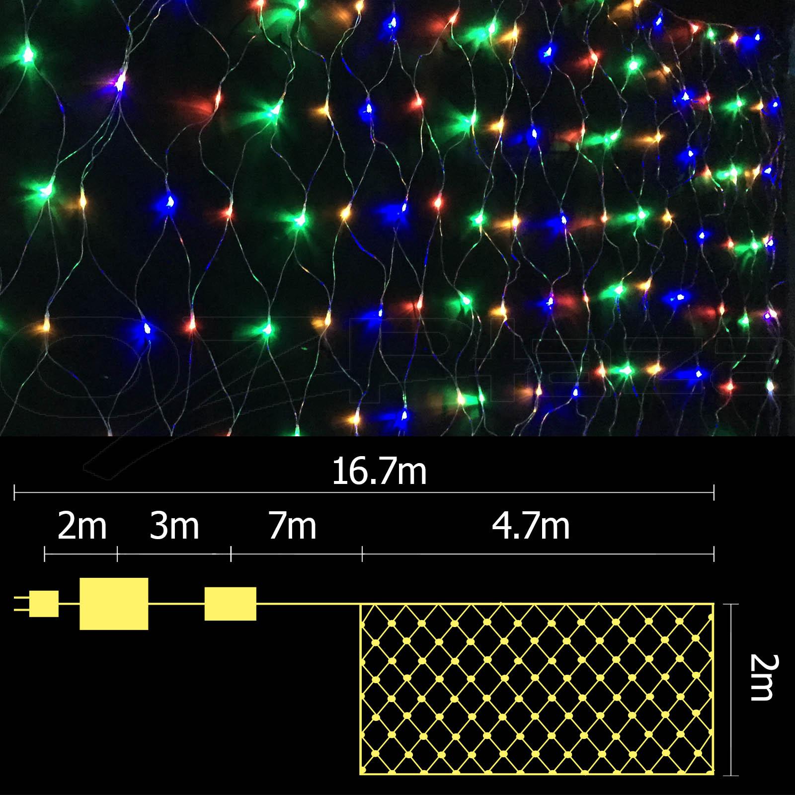 400 LED Christmas Net Lights Display Outdoor Fairy Party Wedding Lighting Ici