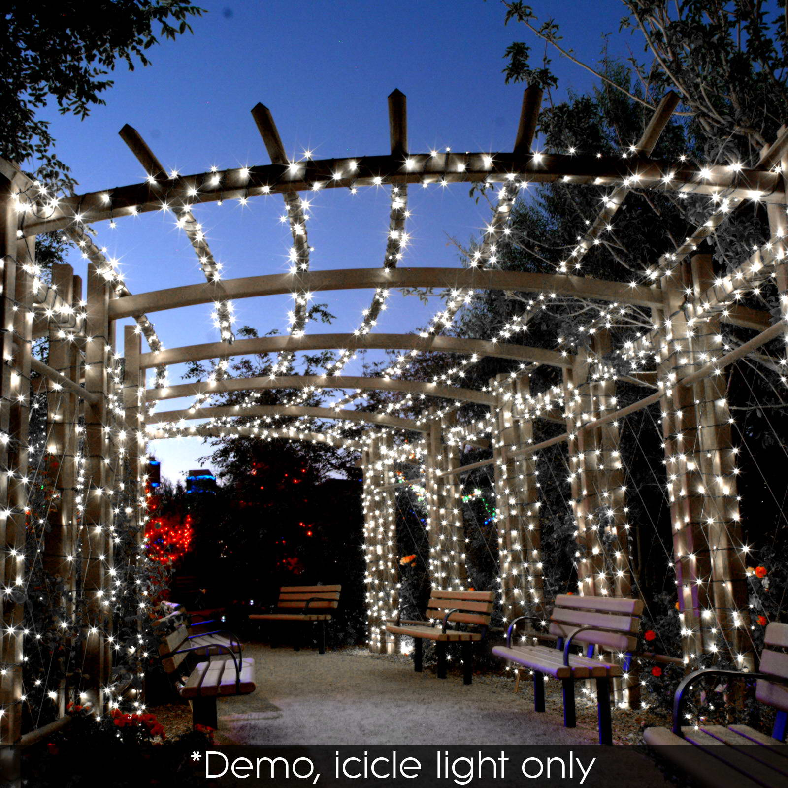 LED Christmas Icicle String Net Curtain Lights Outdoor Fairy Party Wedding Light