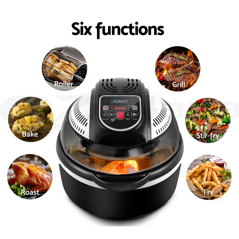 5-Star-Chef-10L-1300W-Air-Fryer-6-8-Function-Convection-Oven-Cooker-Turbo-Health