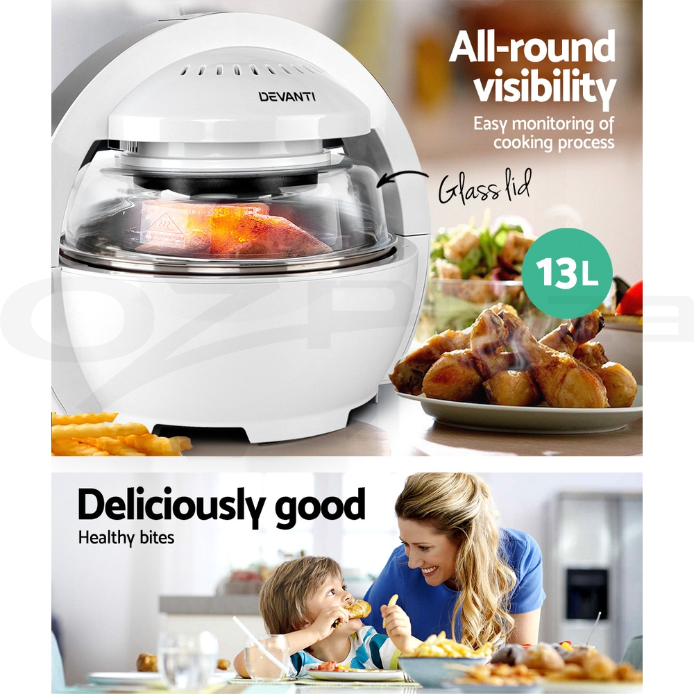 5-Star-Chef-Air-Fryer-Oven-Cooker-13L-LCD-Digital-1300W-Multifunctional-Healthy thumbnail 41