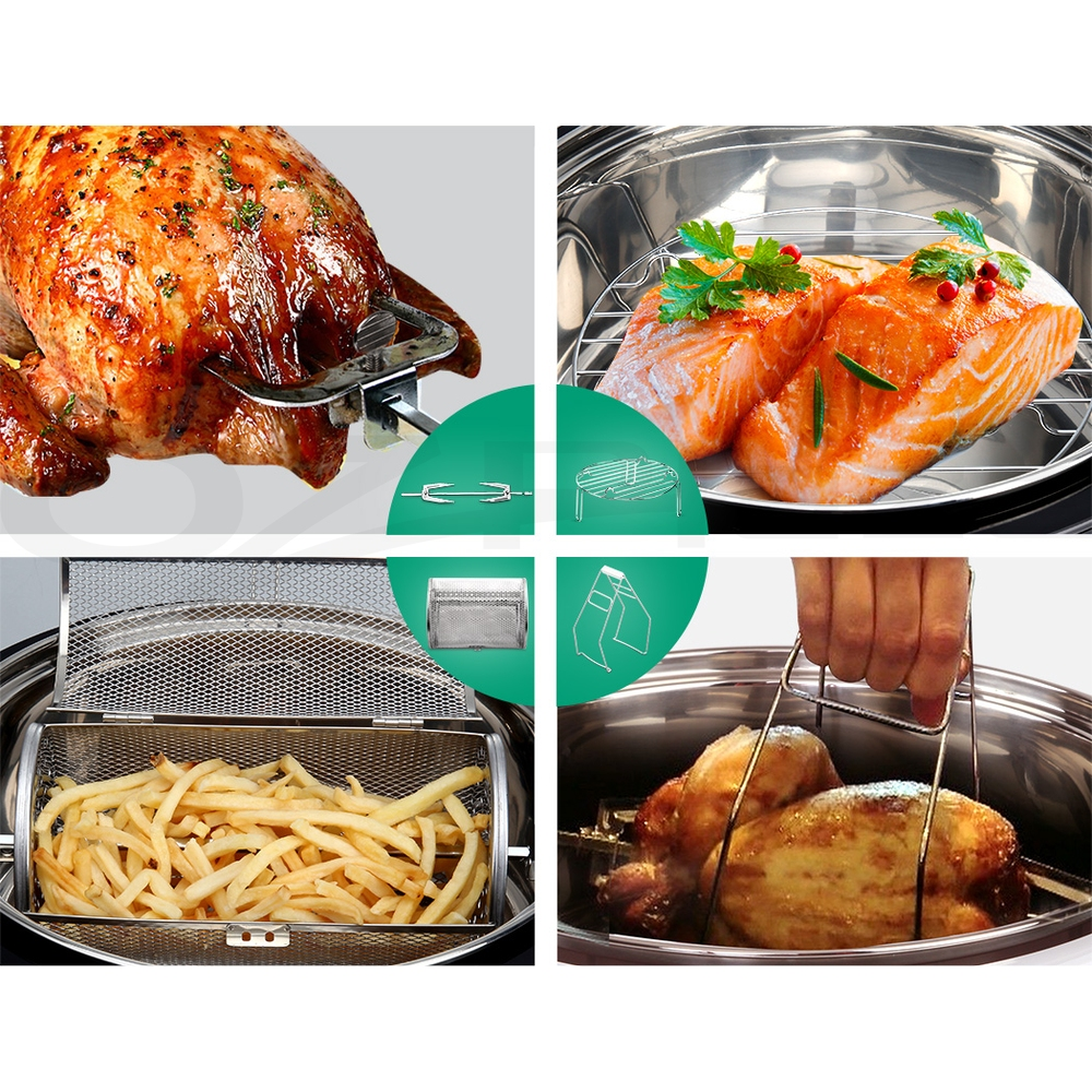 5-Star-Chef-Air-Fryer-Oven-Cooker-13L-LCD-Digital-1300W-Multifunctional-Healthy thumbnail 45