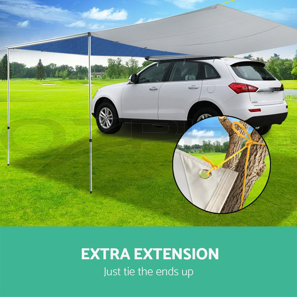 2.5M X 3M Car Side Awning Extension Roof Rack Cover Tents ...