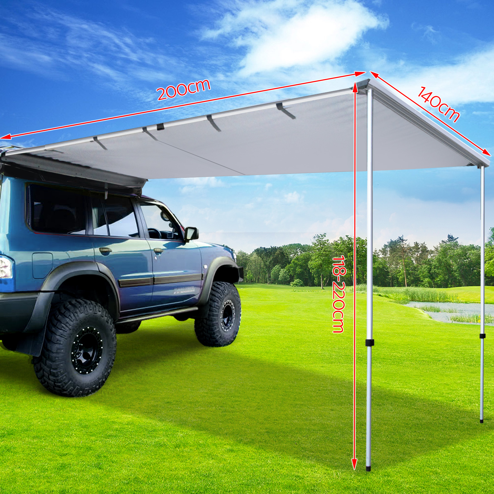 Weisshorn 2M 3M Car Side Awning Extension Roof Rack Top ...