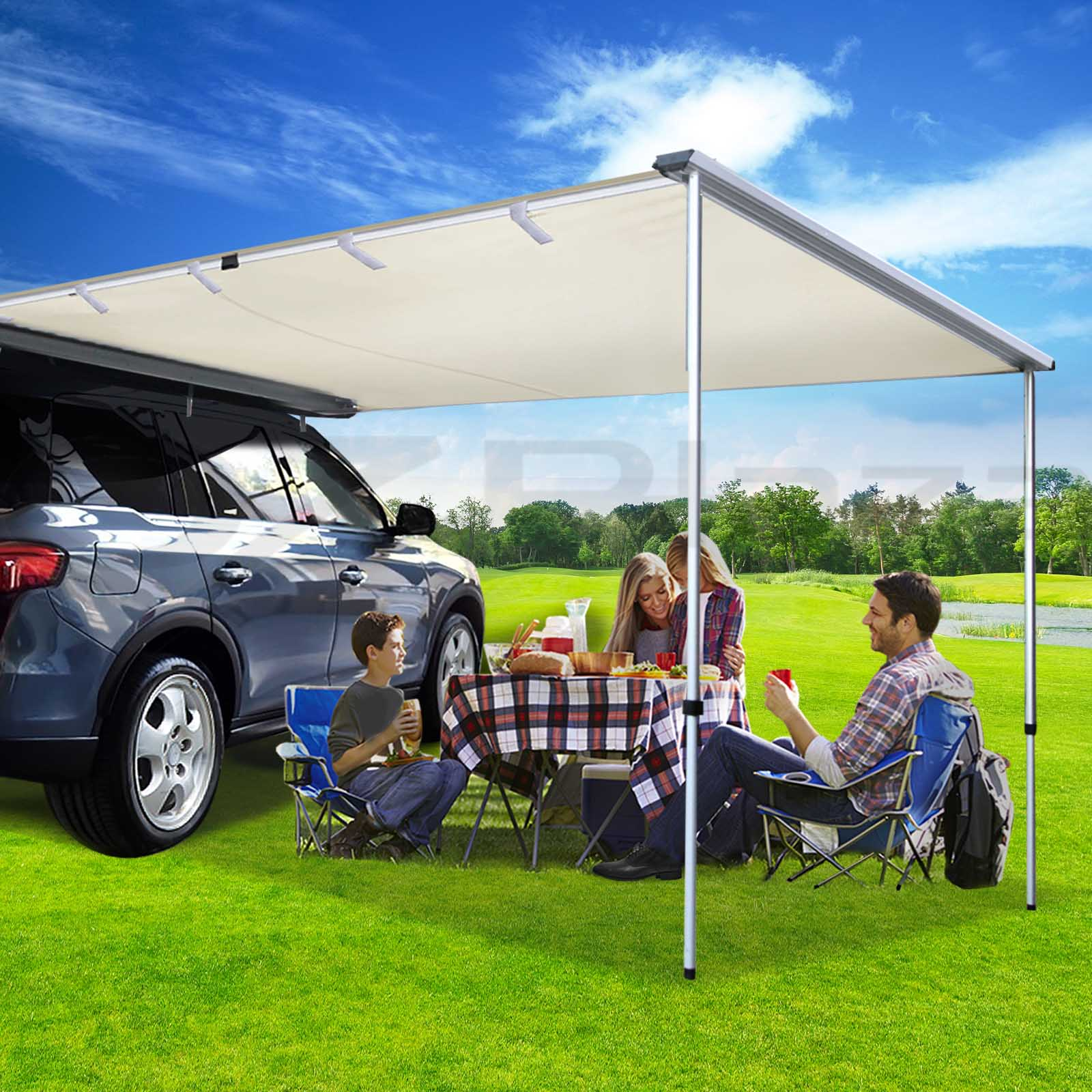 2M 3M Car Side Awning Extension Roof Rack