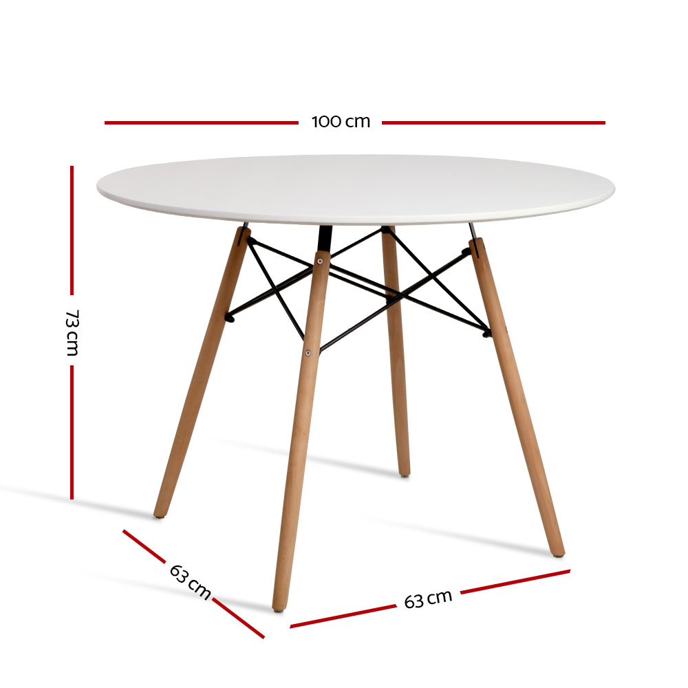 4 seater round replica eames dsw eiffel dining table for Eames replica deutschland
