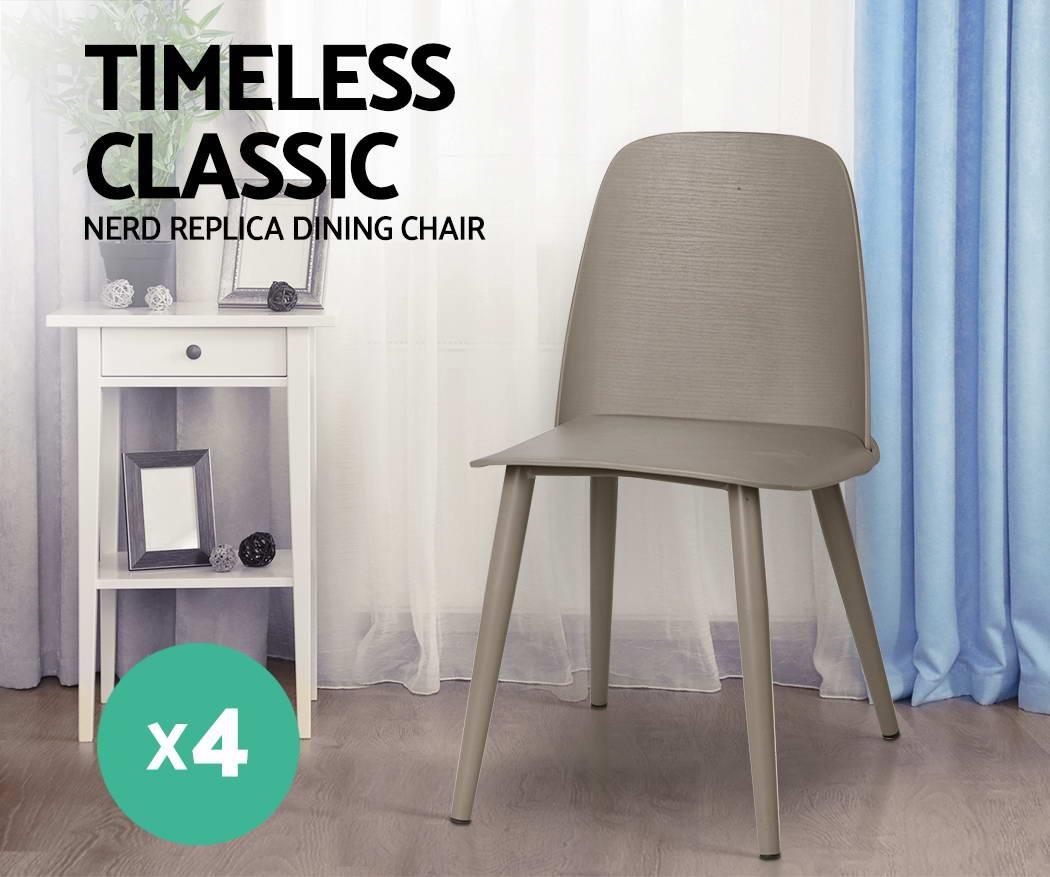 4xartiss Nerd Dining Chairs Retro Modern Muuto Replica