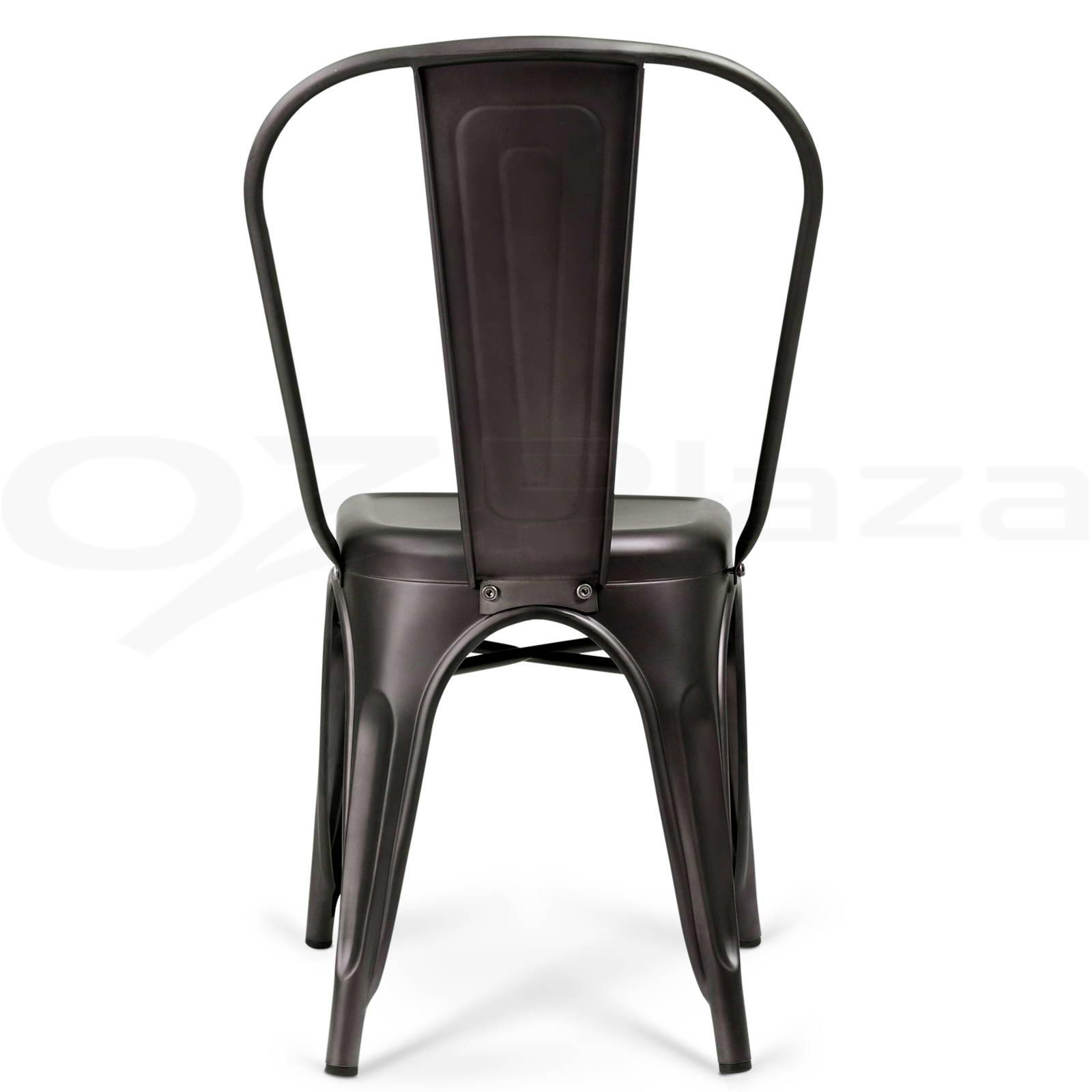 4 x Replica Tolix Dining Chair Metal Steel Xavier Bar Stool Home