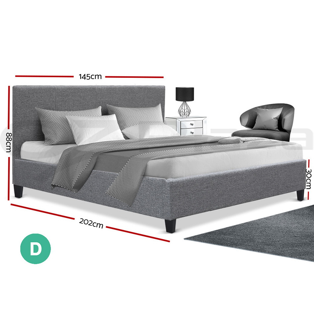 Artiss-Bed-Frame-Single-Double-Queen-King-Size-Base-Mattress-Fabric-Wooden thumbnail 99