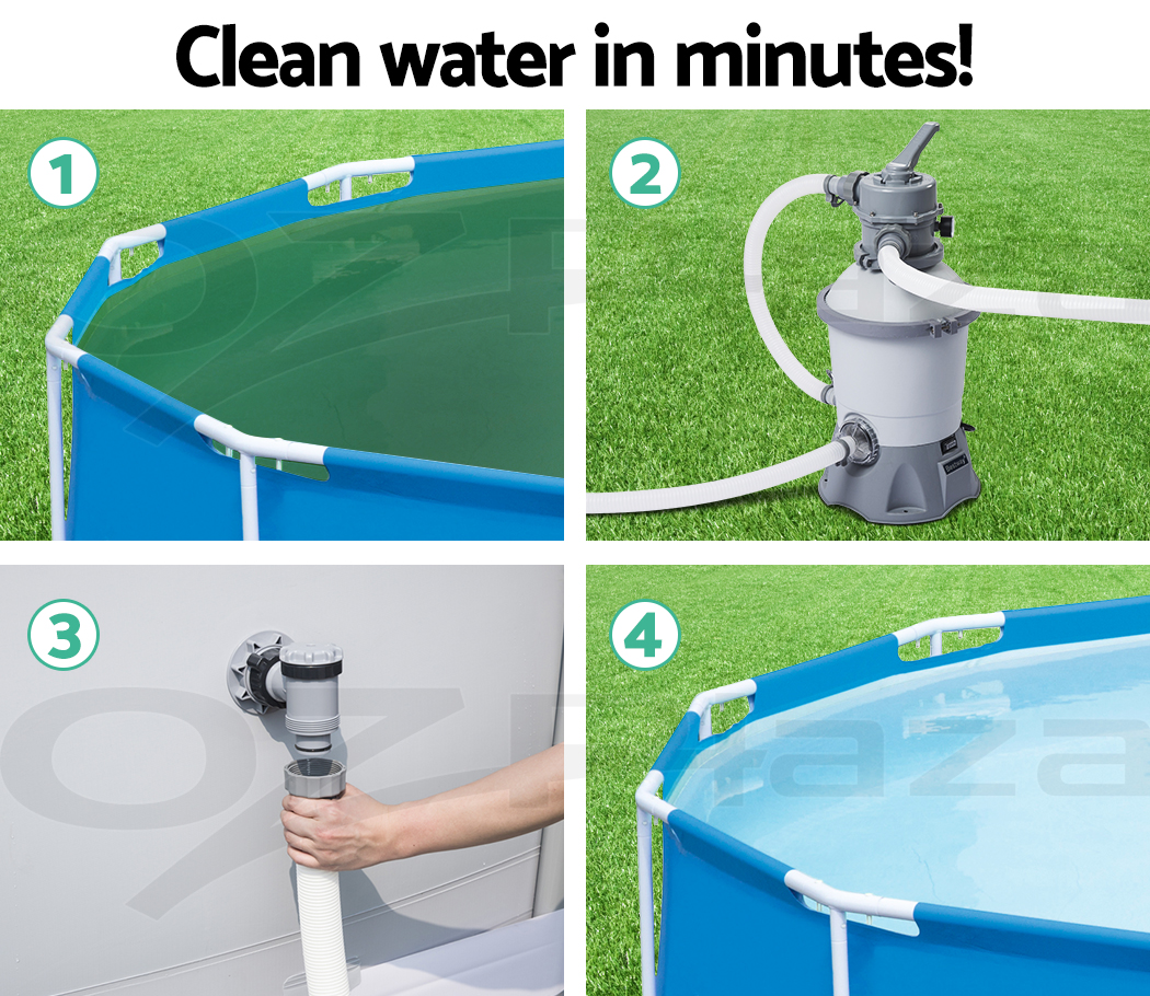 Cleaning Swimming Pool Pump : Gph bestway flowclear™ sand filter swimming above
