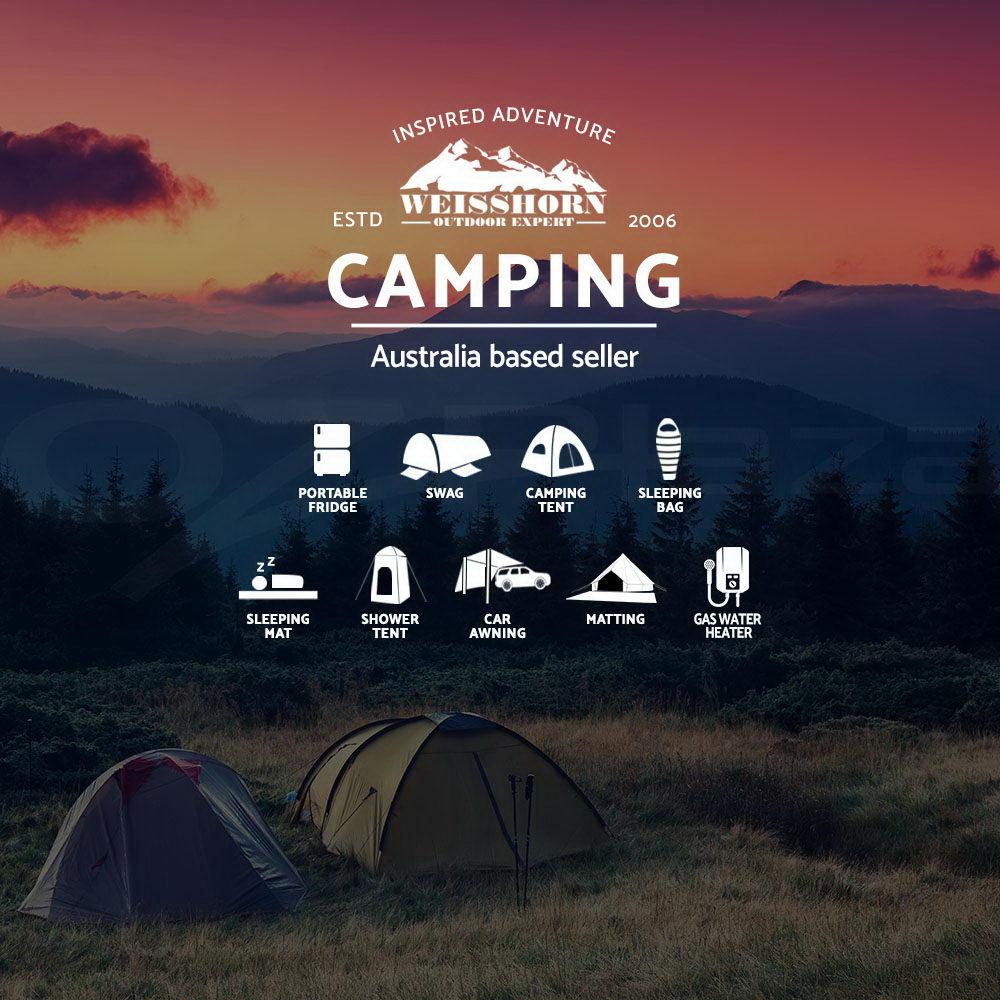 WEISSHORN-Self-Inflating-Mattress-Sleeping-Mat-Air-Bed-Camping-Hiking-Joinable thumbnail 80