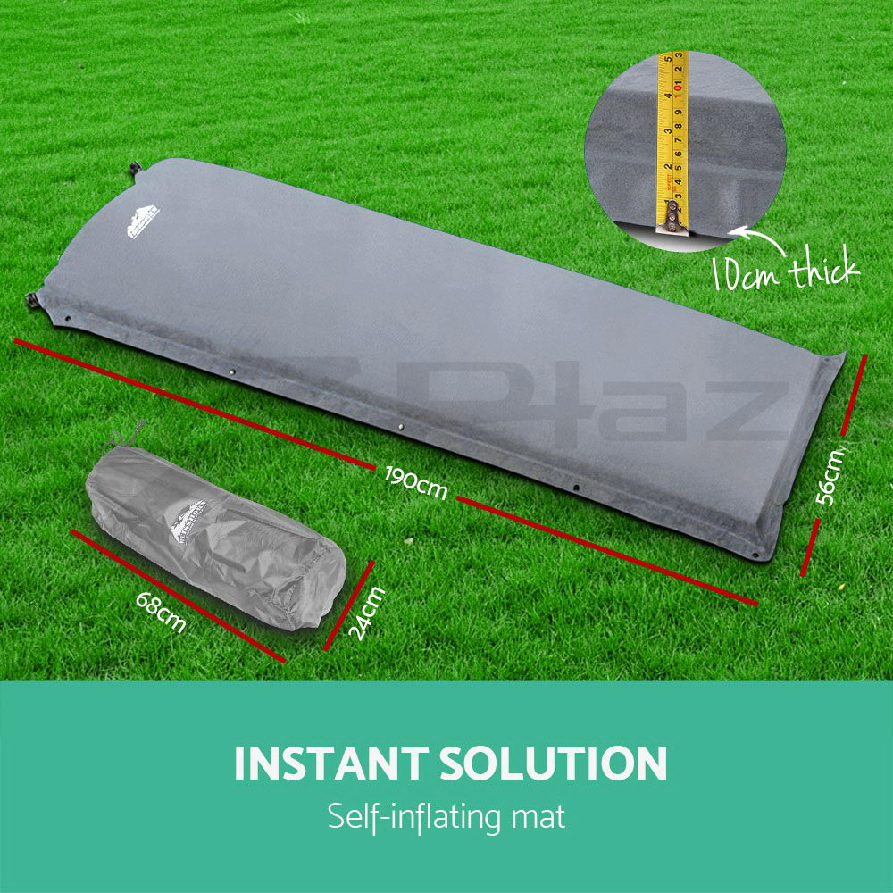 WEISSHORN-4-12-Person-Camping-Tent-Swag-Self-Inflating-Mat-Family-Hiking-Beach thumbnail 36