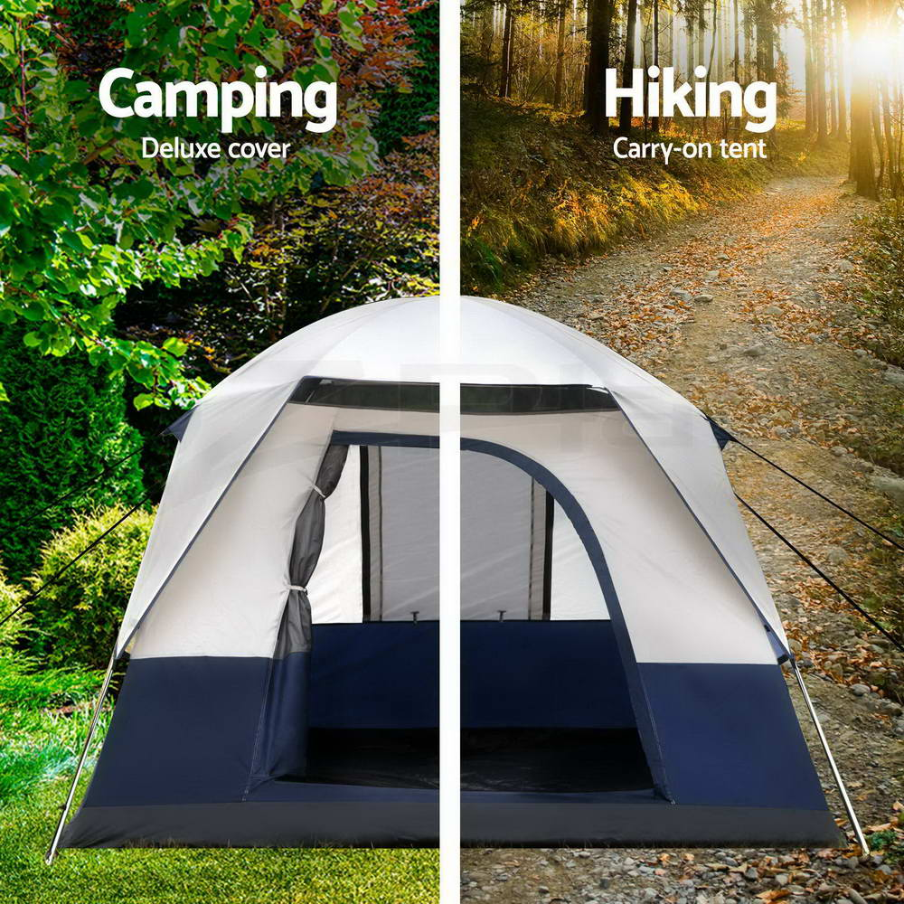 WEISSHORN-4-12-Person-Camping-Tent-Swag-Self-Inflating-Mat-Family-Hiking-Beach thumbnail 64