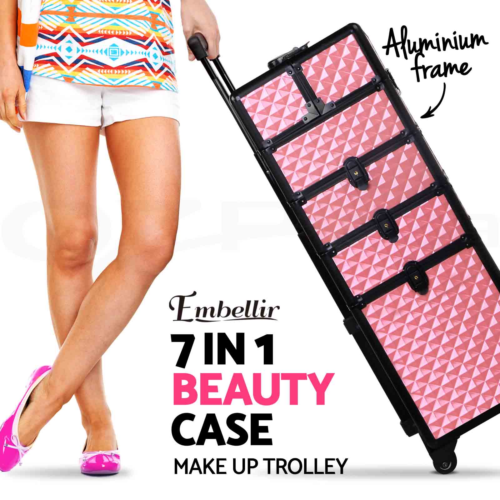 20-OFF-7-In-1-Professional-Beauty-Case-Cosmetic-Makeup-Case-Trolley-Aluminum thumbnail 28