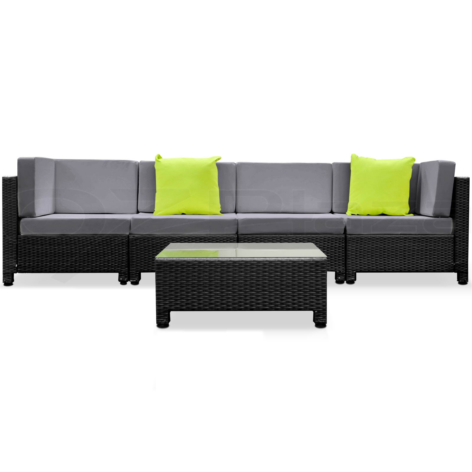 gardeon 5pc sofa outdoor furniture set pe wicker rattan. Black Bedroom Furniture Sets. Home Design Ideas