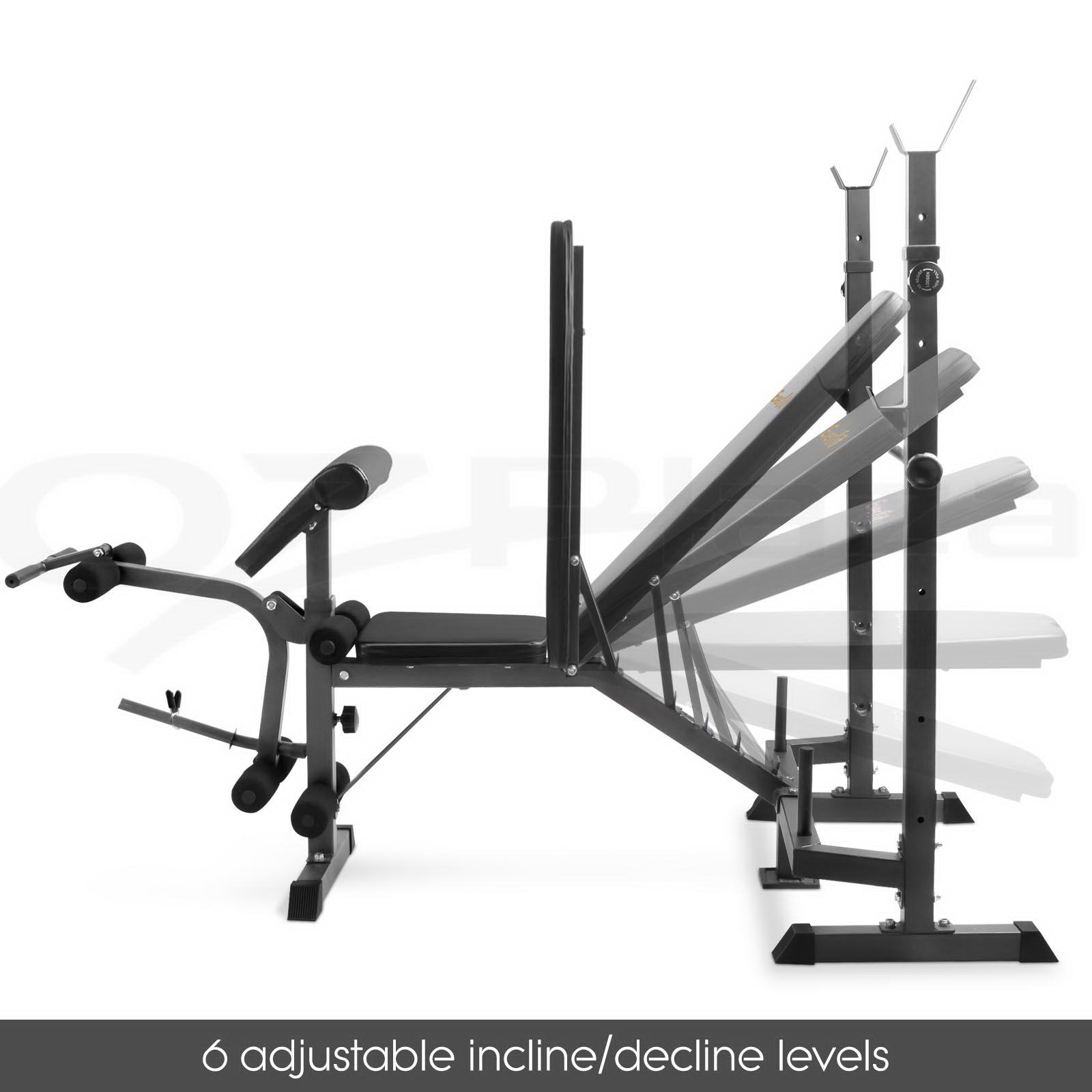 FITNESS MULTI-STATION WEIGHT Bench Press Incline Barbell ...